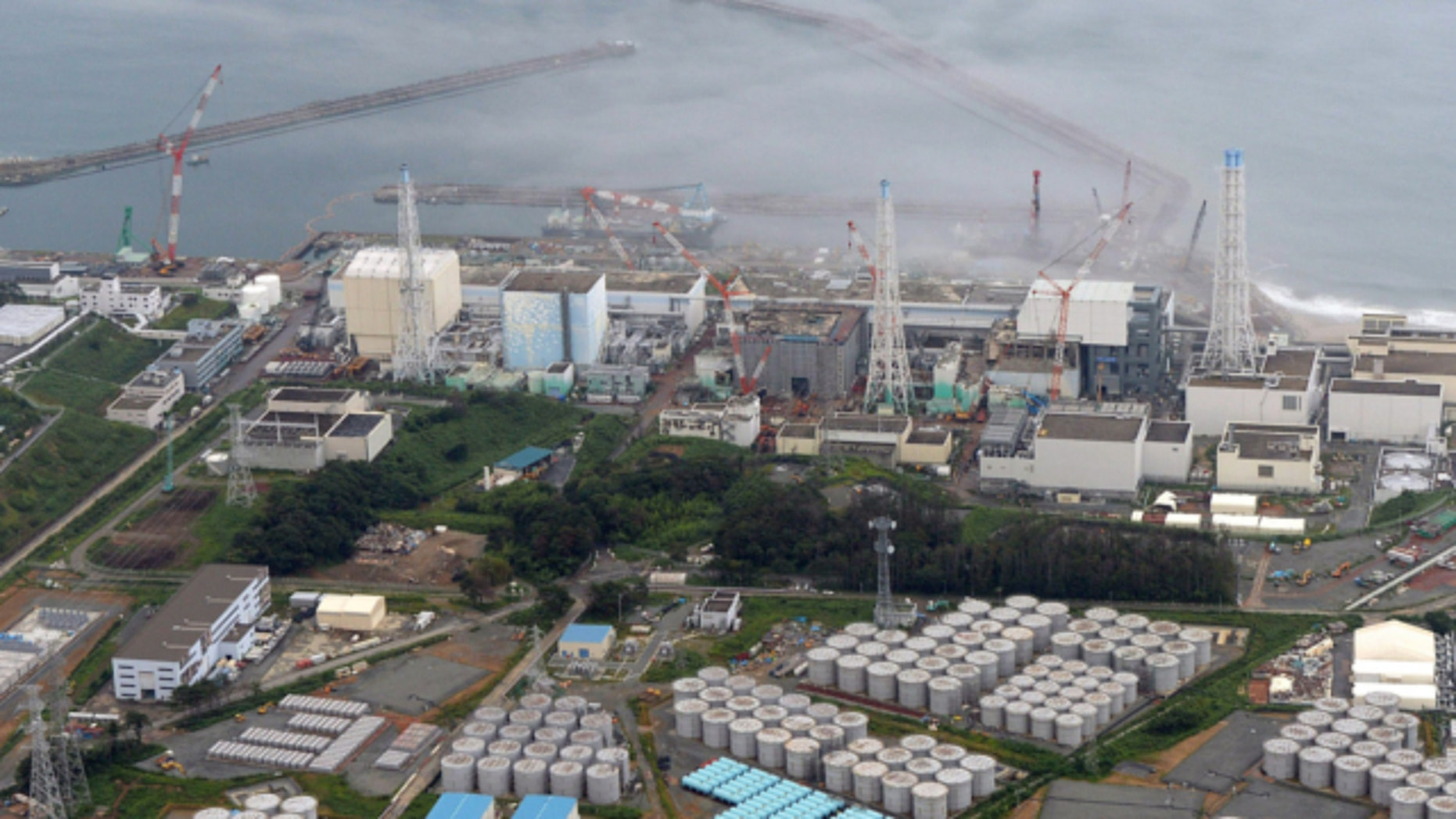 Aug. 20, 2013: This photo shows the Fukushima Dai-ichi nuclear plant at Okuma in Fukushima prefecture, northern Japan.