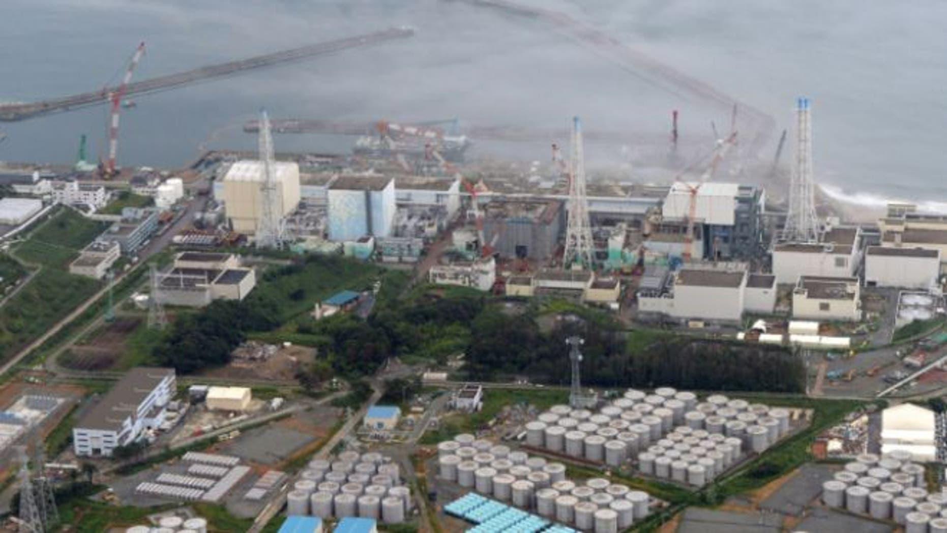 Aug. 20, 2013: This photo shows the Fukushima Dai-ichi nuclear plant at Okuma in Fukushima prefecture, northern Japan.
