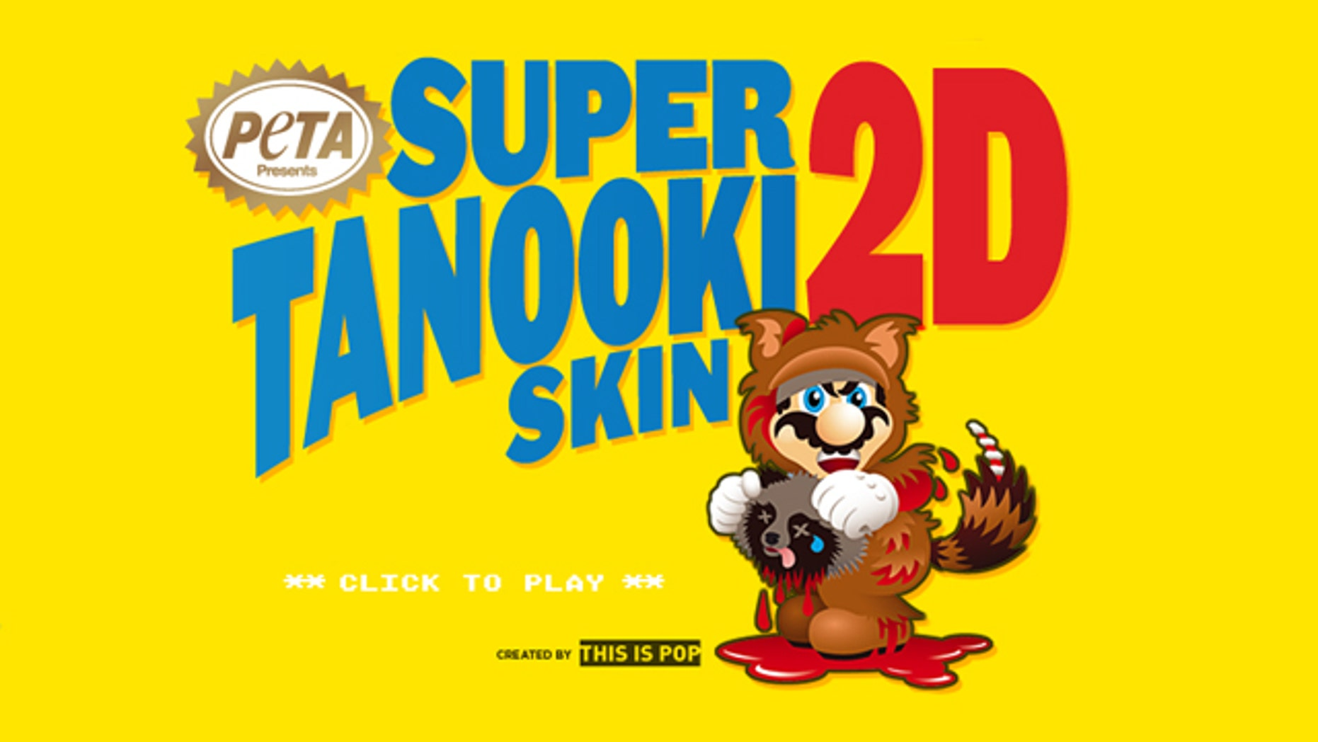 PETA has even created its own satirical game called Super Tanooki Skin 2D in which a skinless Tanooki chases Mario, trying to get his skin back.