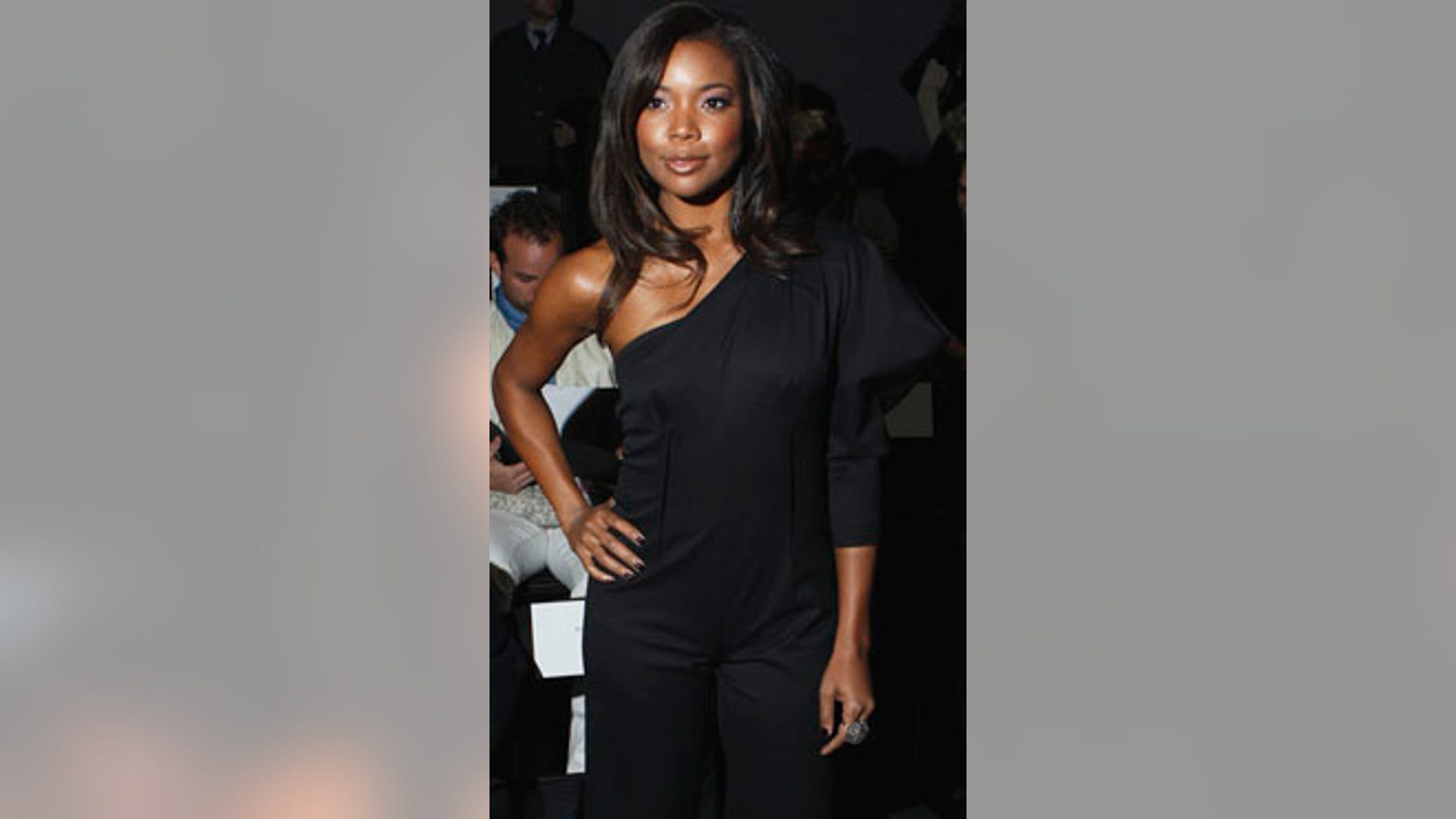 Actress Gabrielle Union poses before a showing of the Nicole Miller Fall/Winter 2011 collection during New York Fashion Week February 11, 2011.