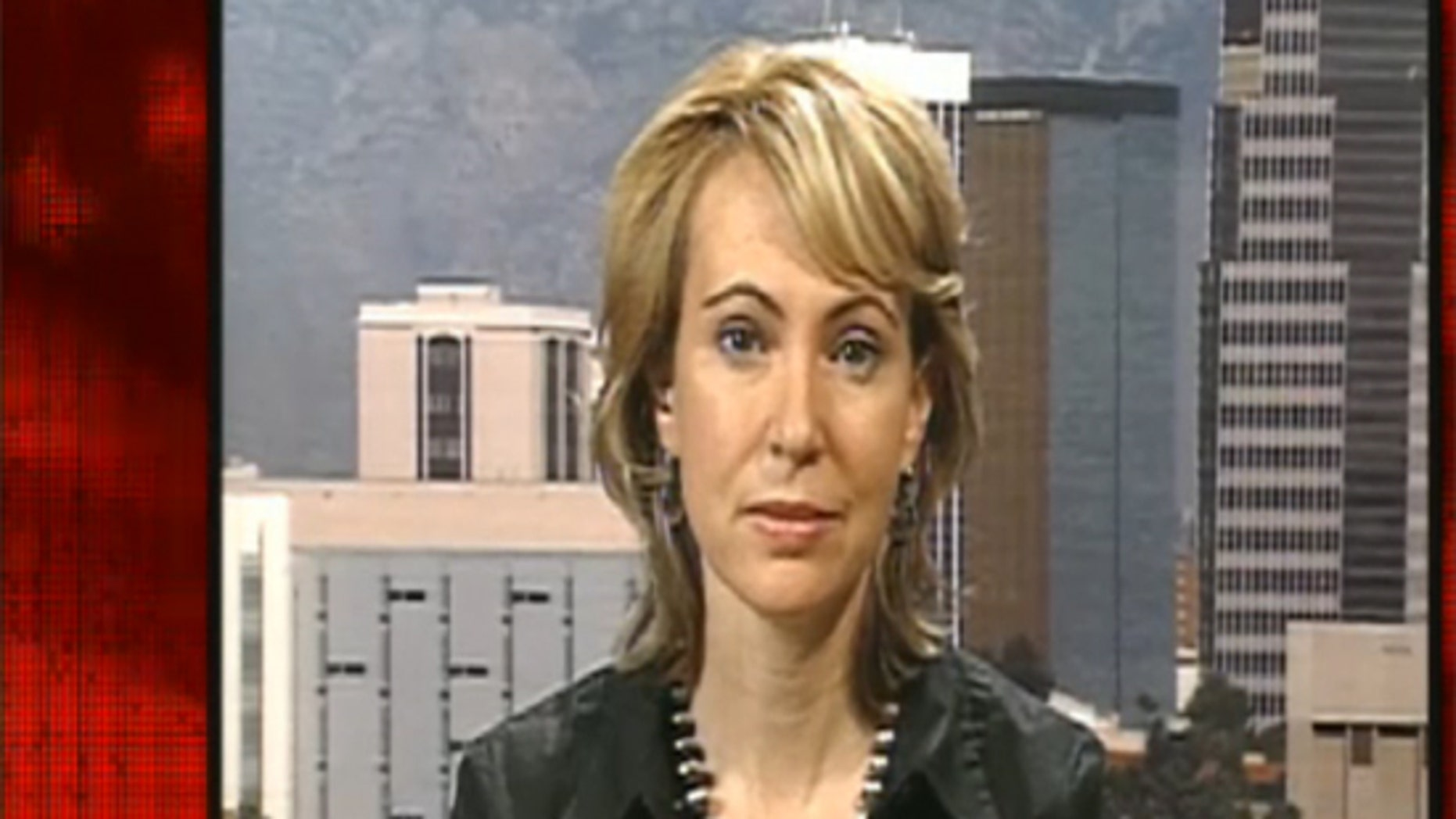 Democratic Rep. Gabrielle Giffords told Fox News on Saturday that she has information that the Department of Education and the U.S. Border Patrol canceled scheduled meetings in Arizona over the state's tough new immigration law, June 26, 2010. (FNC)