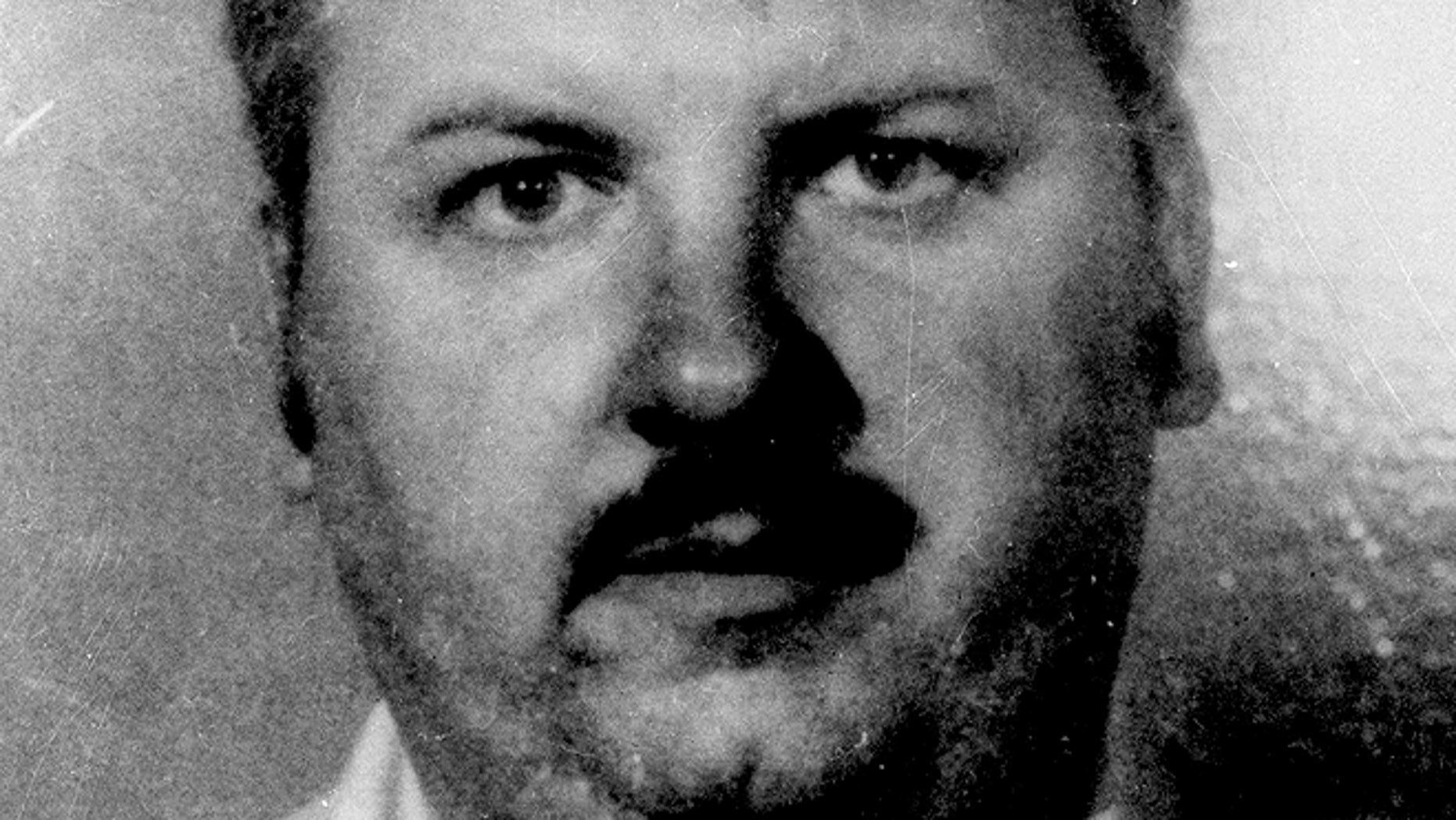 This 1978 file photo shows serial killer John Wayne Gacy.
