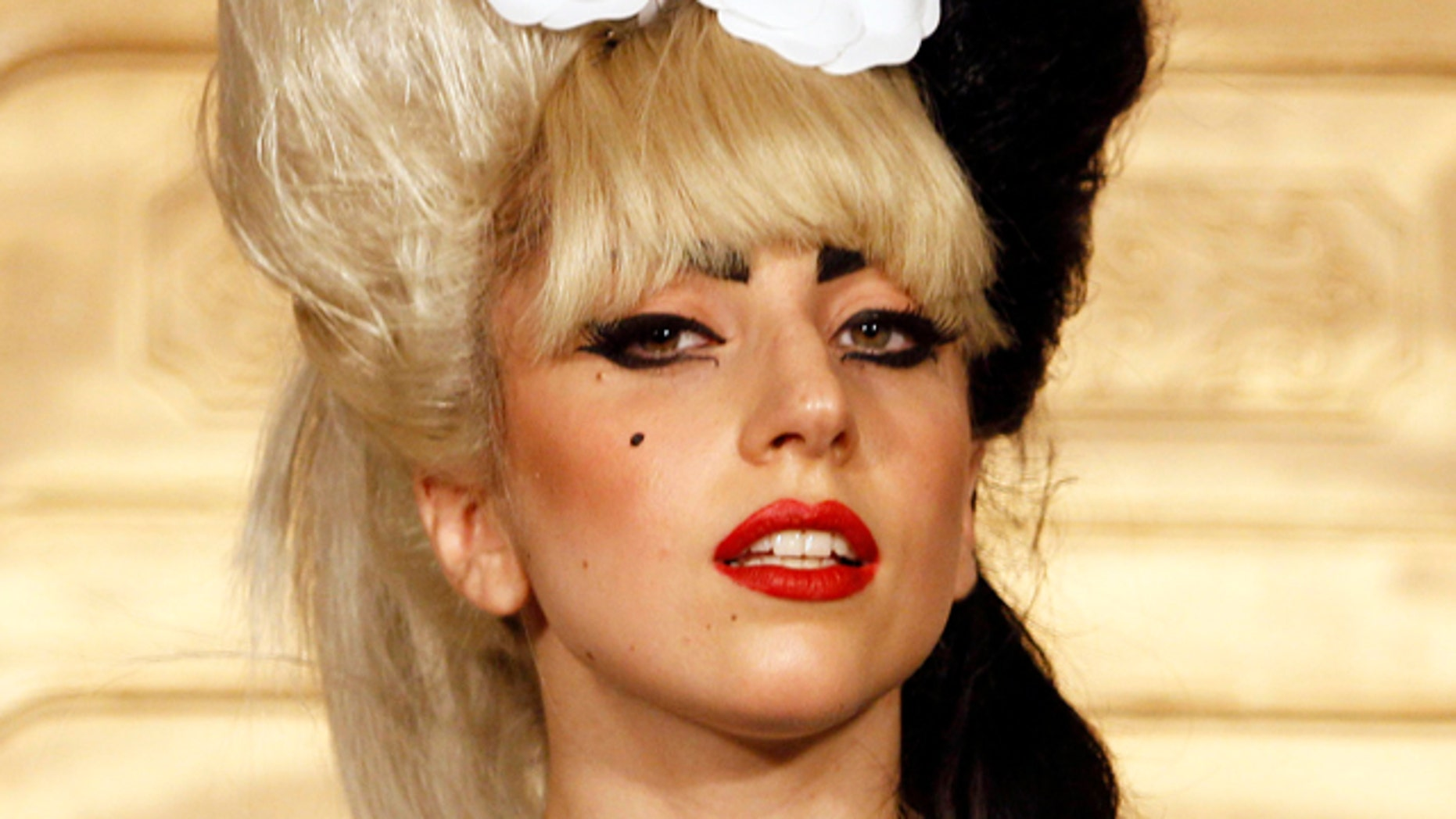 FILE 2011: Lady Gaga attends a news conference in Taipei, Taiwan.