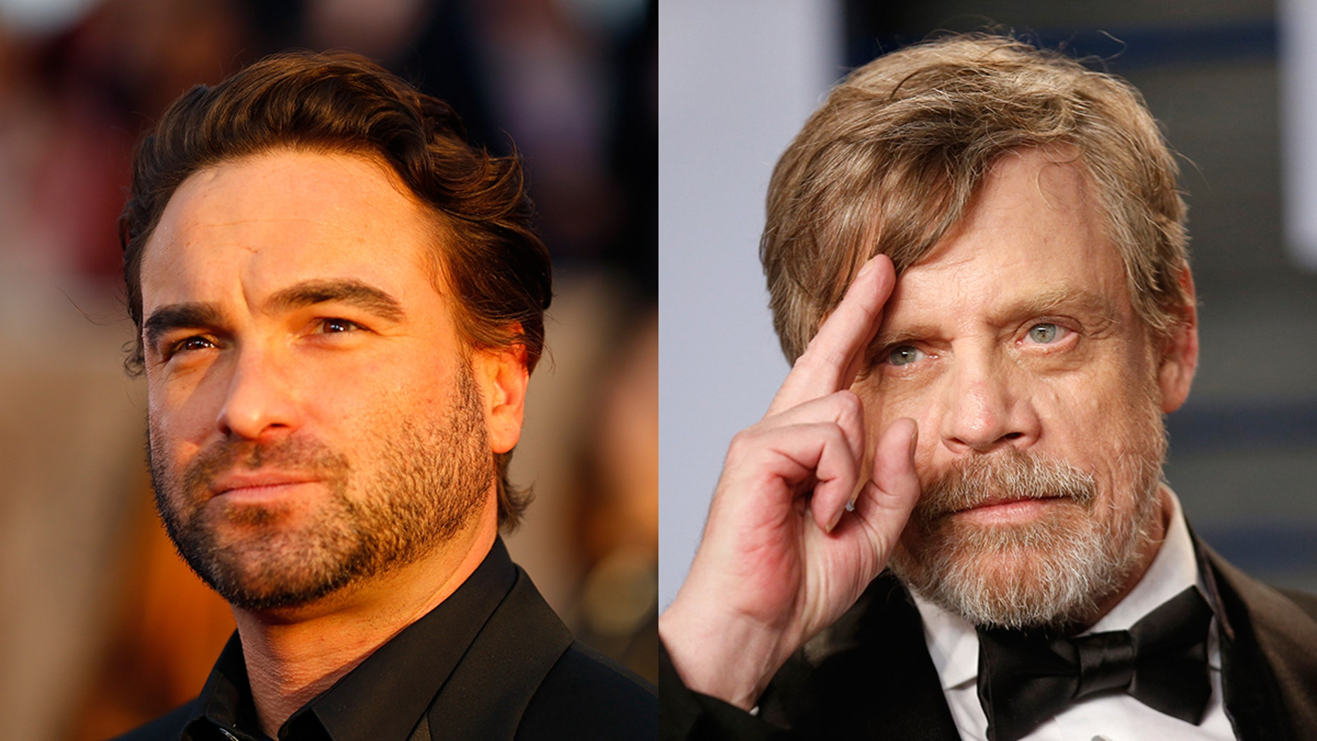 Johnny Galecki says mark Hamill asked a lot of questions about 'Roseanne' while guest starring on 'The Big Bang Theory.'