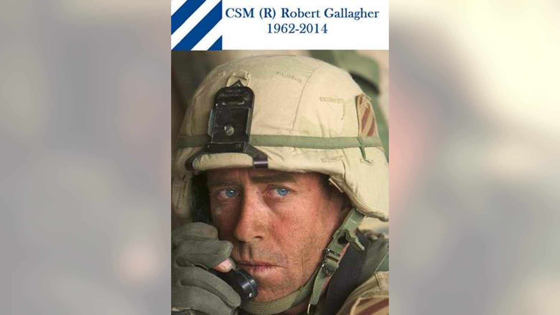 Command Sgt. Maj. Robert Gallagher was in Mogadishu, Somalia, in 1993 and in Baghdad for the U.S. invasion in 2003. When he retired, he worked to serve soldiers. He died on Oct. 13 at age 52. (3rd Infantry Division/Facebook)
