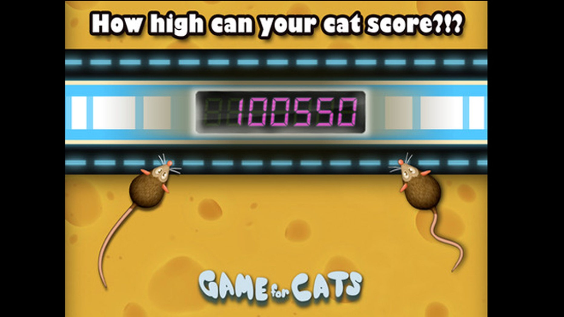 "A screenshot from ""Game for Cats,"" one of a growing collection of iPad and iPhone apps that target pets."