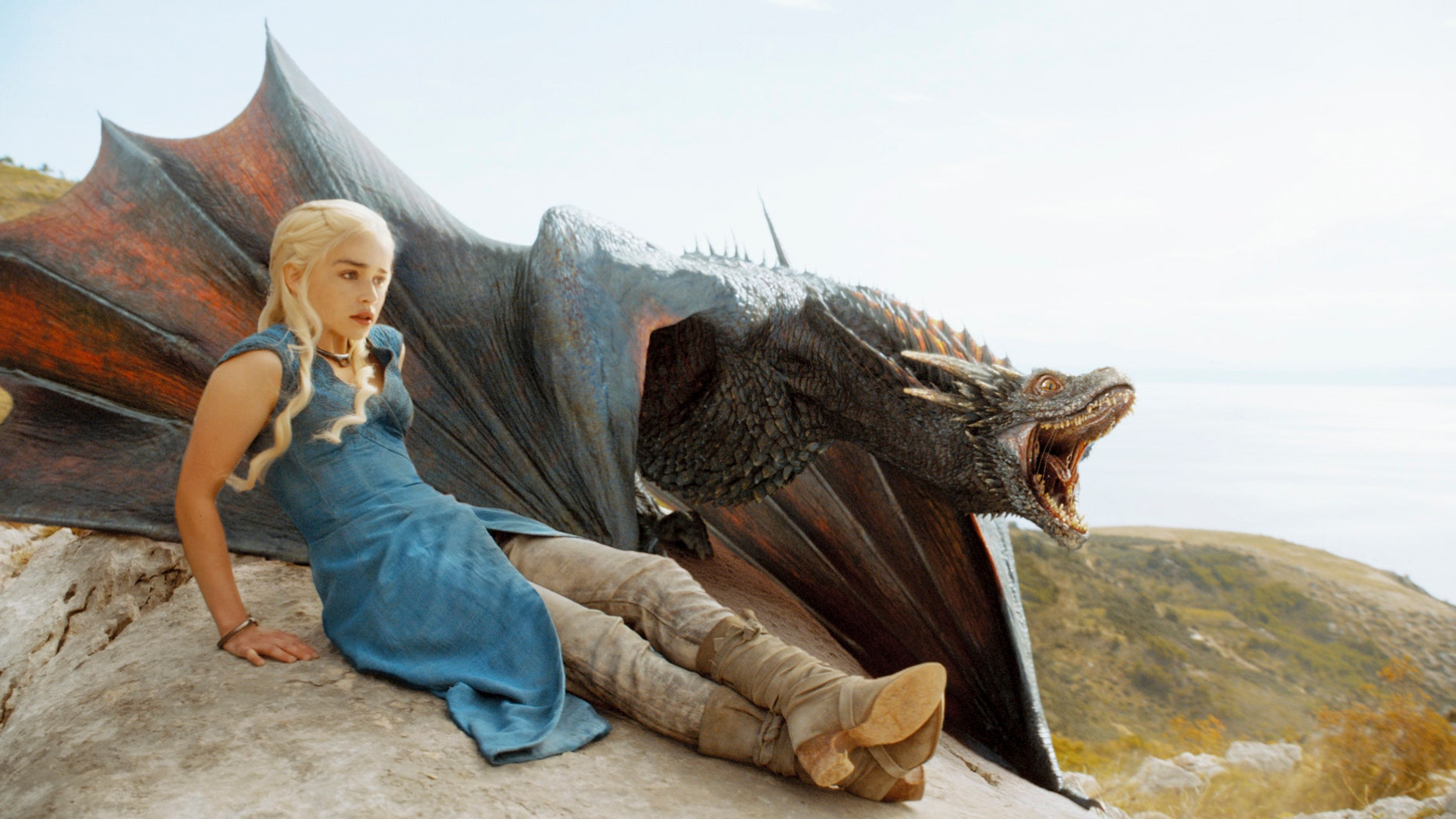 'Game of Thrones' actress Emilia Clarke (Daenerys Targaryen) and companion (Courtesy HBO)