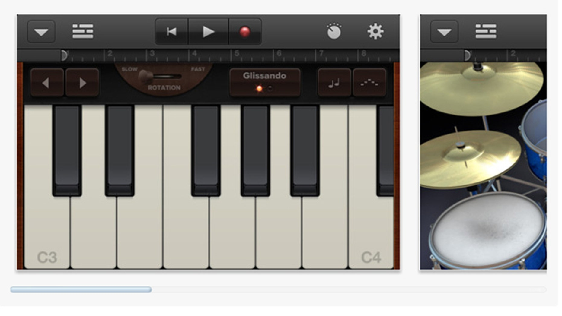 GarageBand turns your iPad, iPhone and iPod touch into a full-featured recording studio.