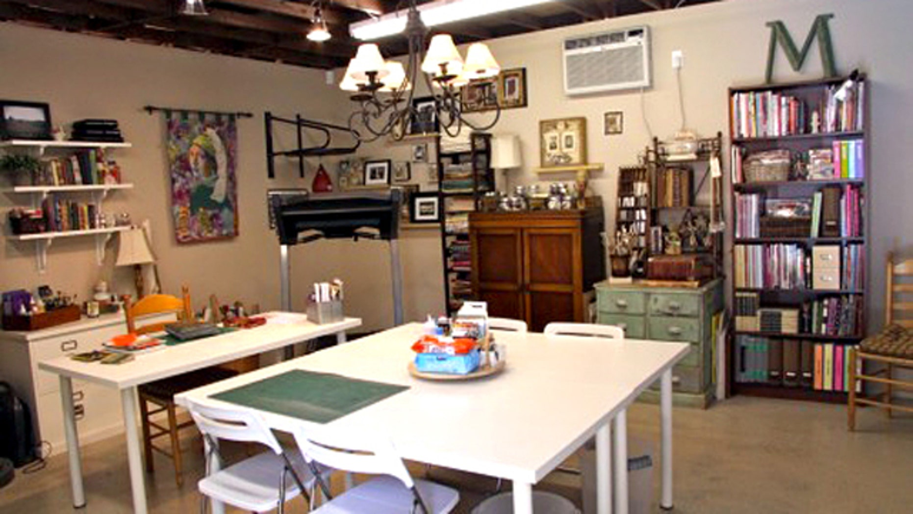 By cleaning out her garage in Sherman Oaks, Calif., Mikki Lesowitz-Soliday made room for craft tables, a sewing station and plenty of art supplies.