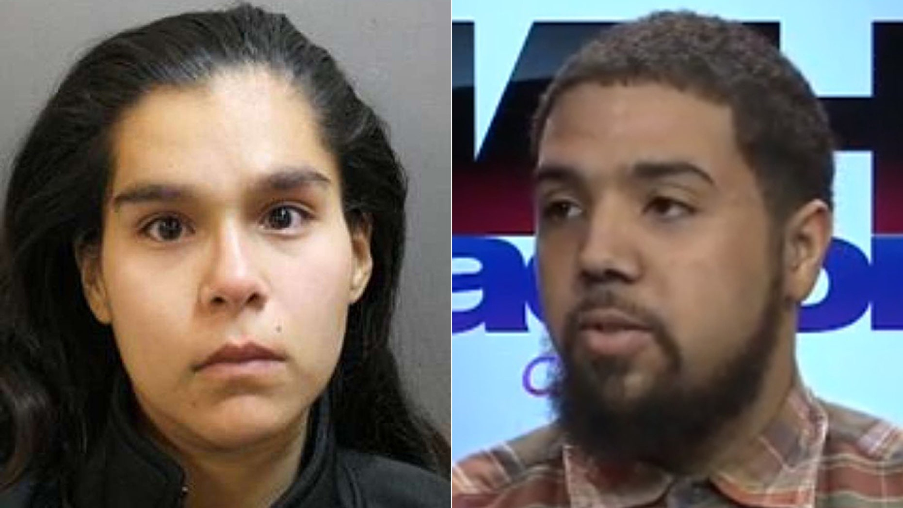 Lisa Garcia, 22, left, reportedly was arrested Thursday after she falsely claimed her boyfriend, Brandon Berrott, 23, threatened her life on social media, but was actually writing those posts herself. (Fox 26)