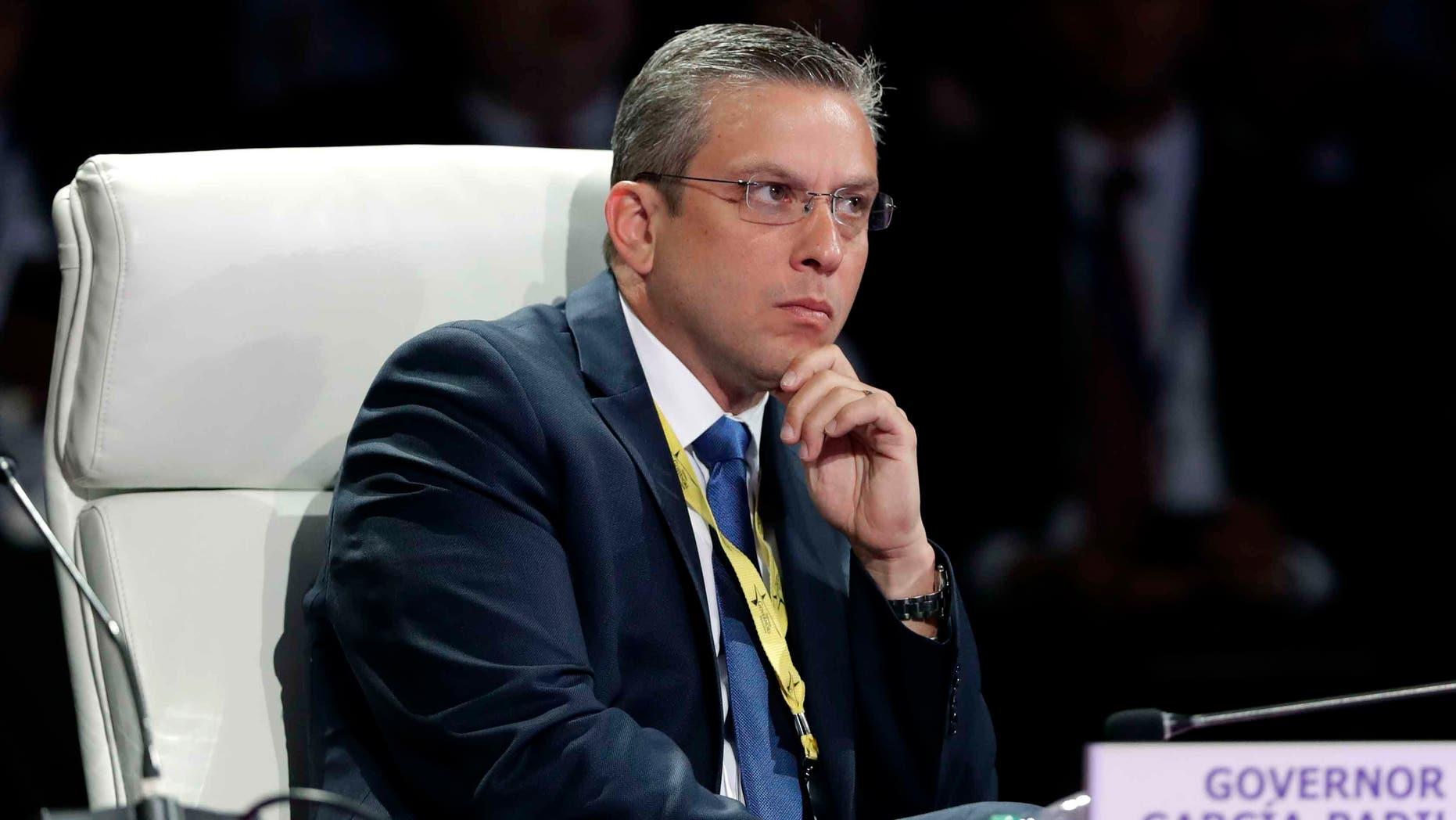 Puerto Rico Gov. Alejandro Garcia Padilla in a July 15, 2016 file photo.