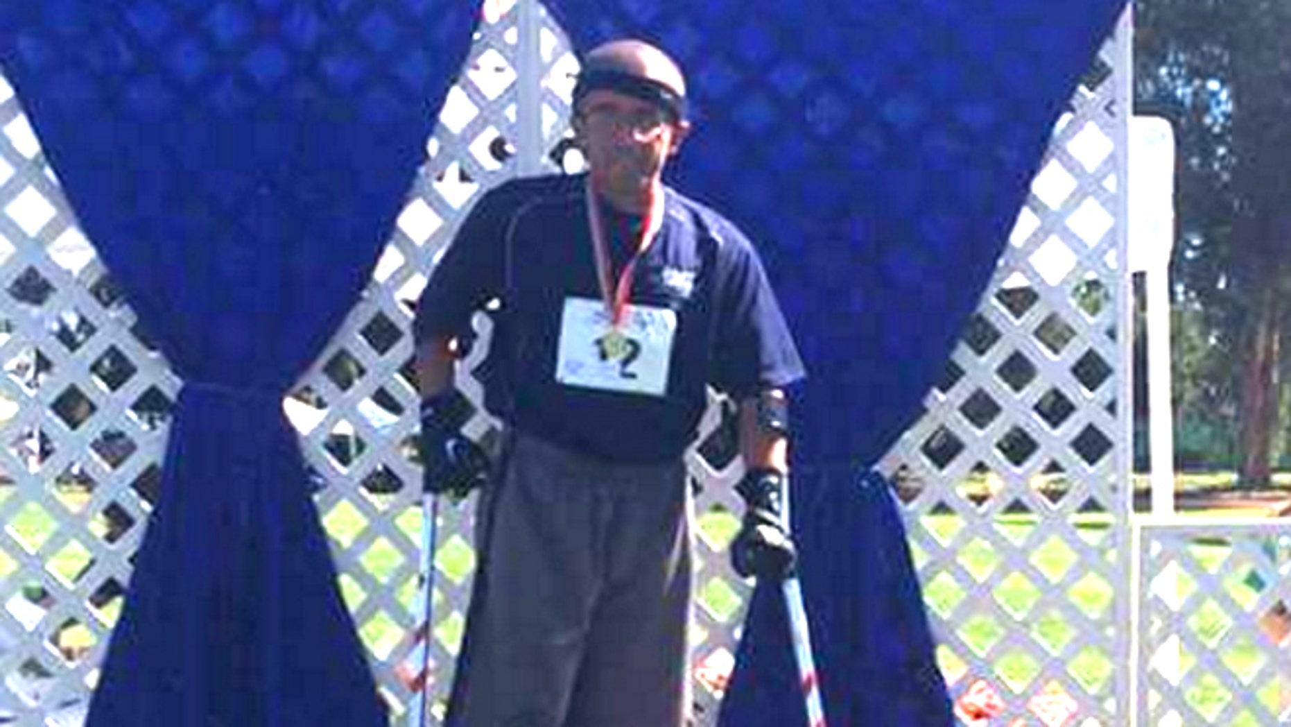 Edward Garcia, an 11-time Special Olympian