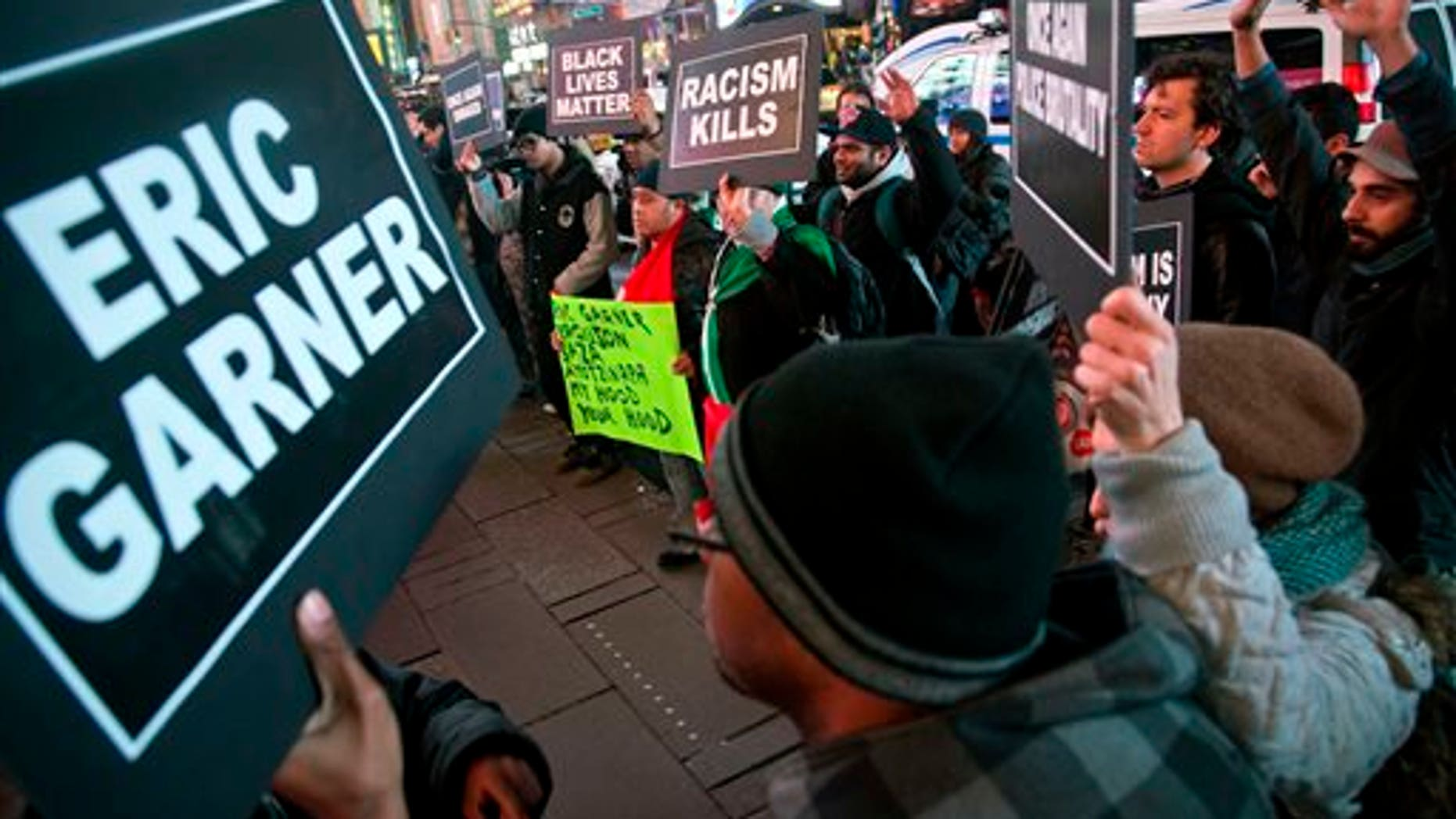 Protesters in Times Square on Dec. 3, 2014, in New York.
