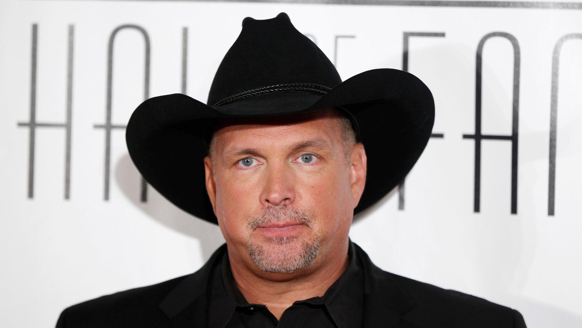 June 16, 2011. Singer Garth Brooks arrives for the Songwriters Hall of Fame awards in New York.