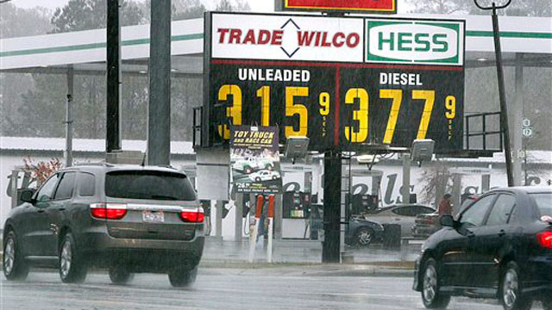 Dec. 27, 2011: Shown here is a gas station in Swansboro, N.C.