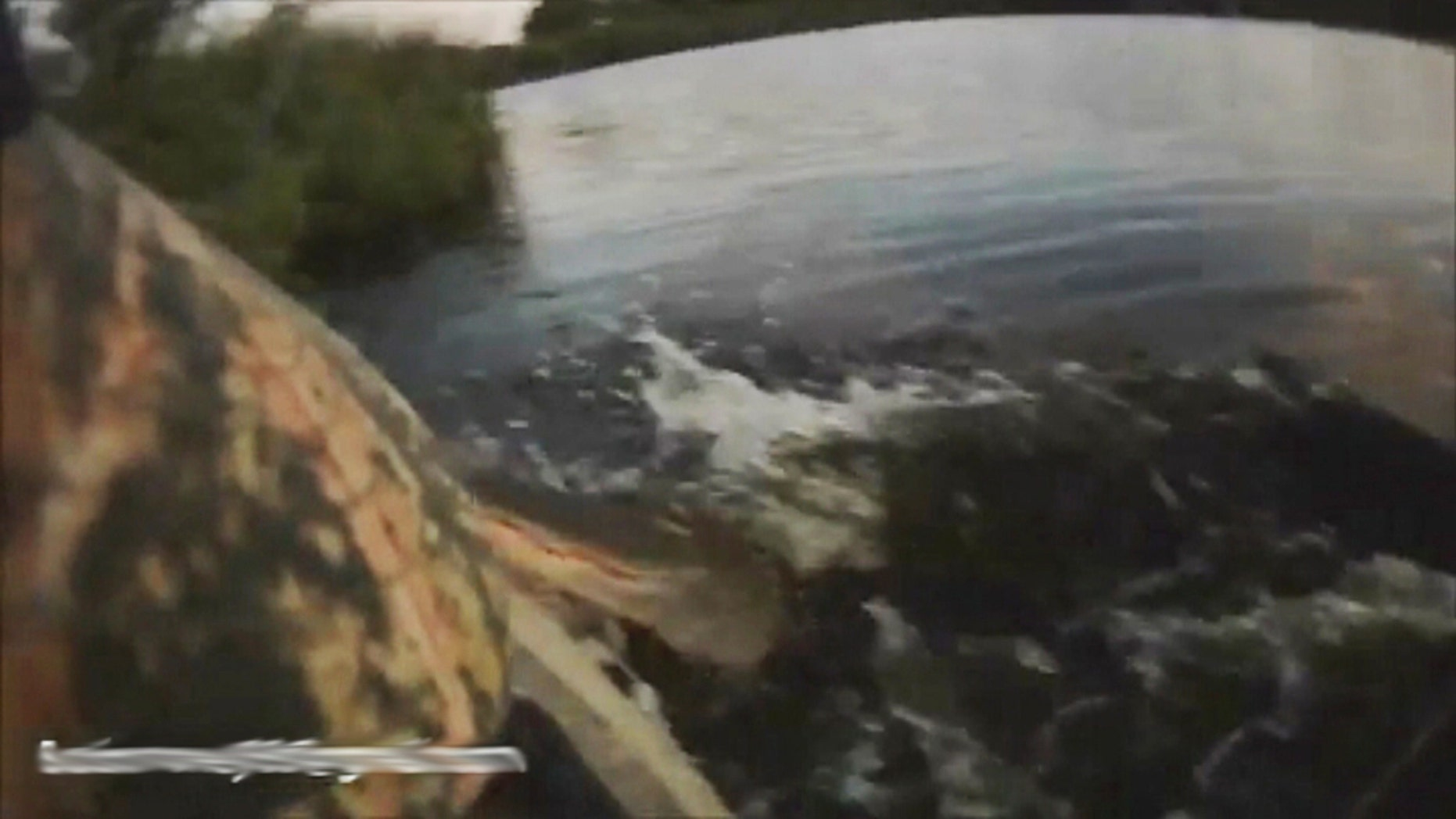 A Florida kayaker had the fright of his life when his fishing trip was interrupted by an alligator that leapt into his boat.