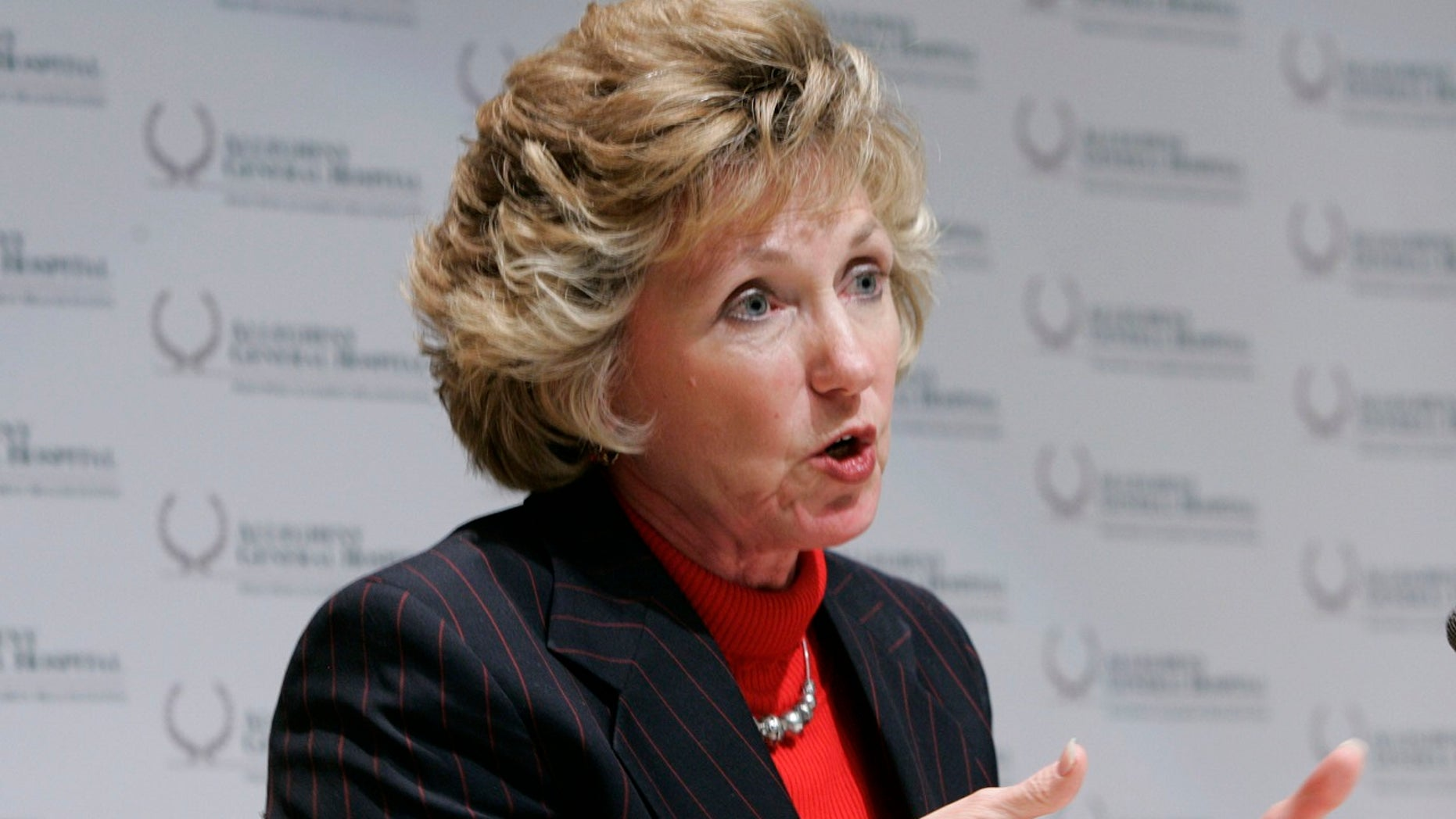 Gayle Manchin speaks during a news conference in Pittsburgh, Jan. 5, 2006.