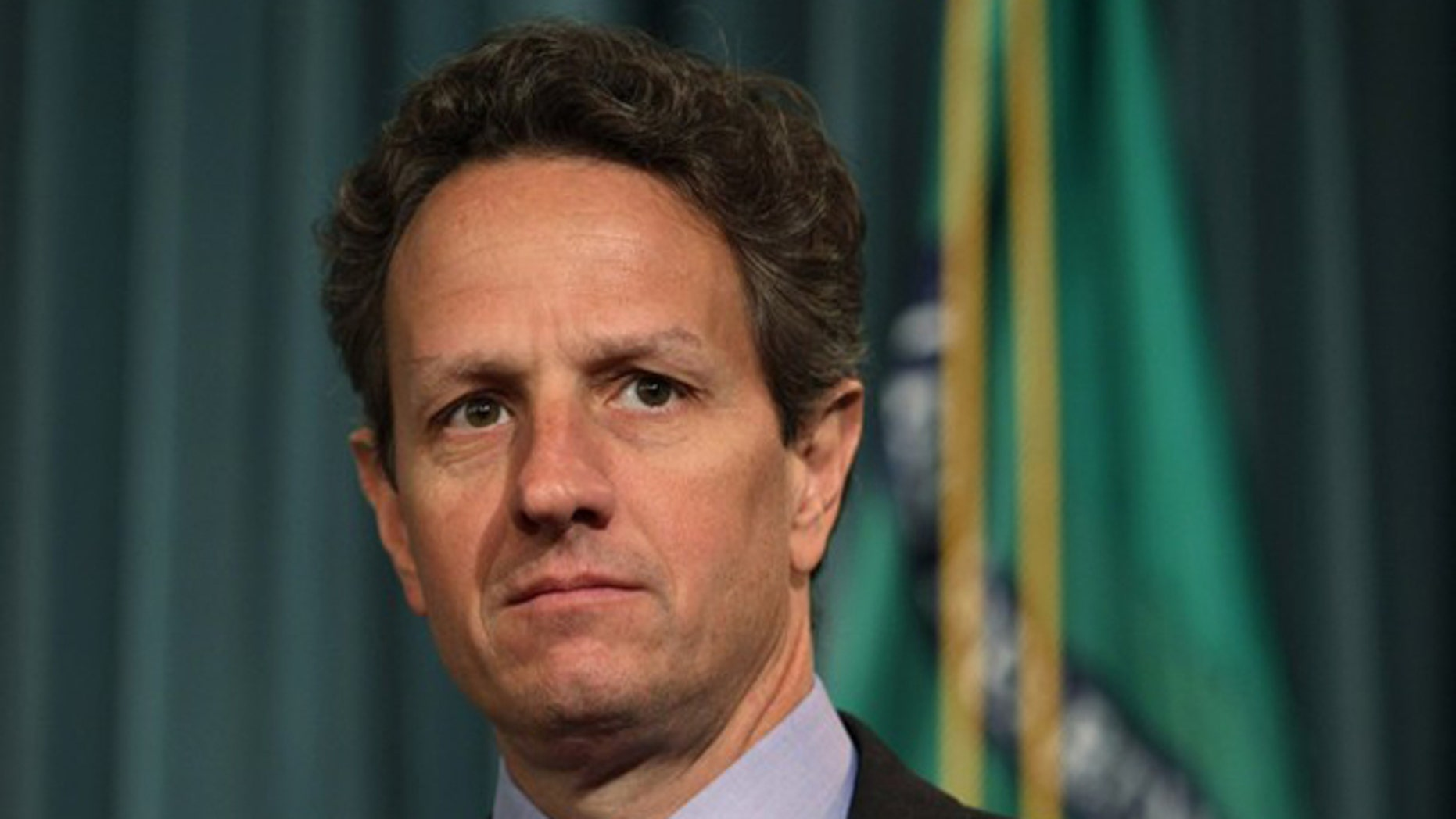 Treasury Secretary Timothy Geithner is pictured at a briefing at the Treasury Department in Washington May 13.