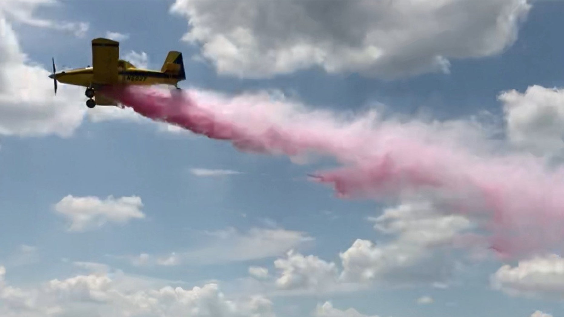 A Texas couple used a crop duster plane to reveal the gender of their baby.