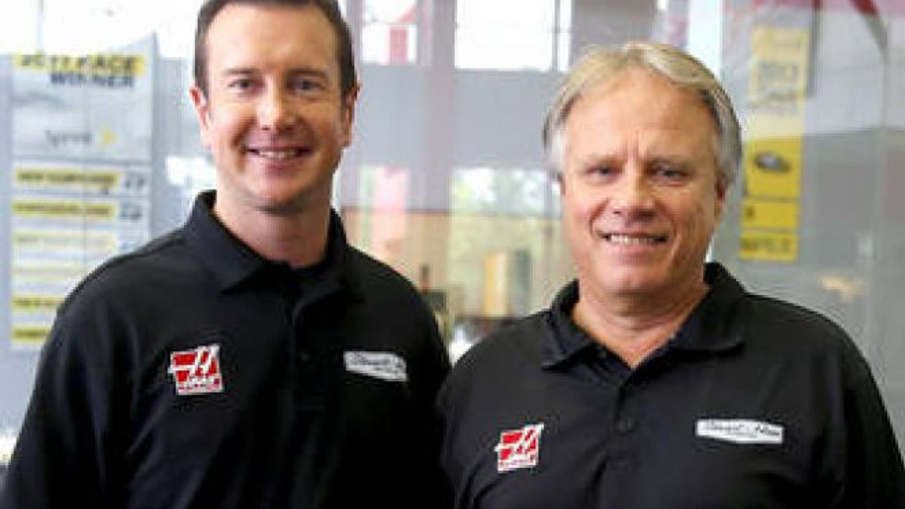 Stewart-Haas driver Kurt Busch (left) with Gene Haas (right).