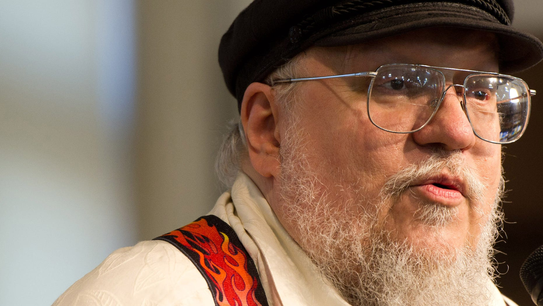 """In this July 14, 2011 file photo, author George R.R. Martin attends a book signing for """"A Dance with Dragons"""" at Barnes & Noble in New York"""