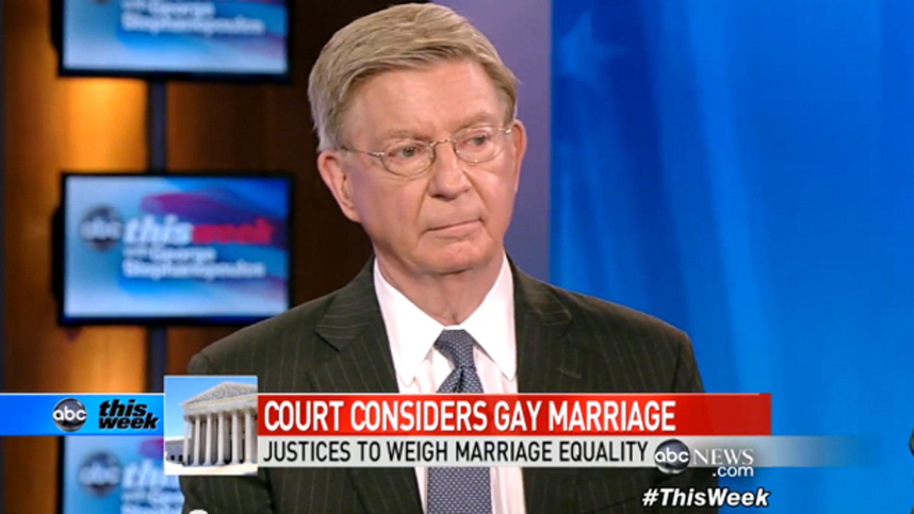 """George Will appears on ABC's """"This Week."""""""