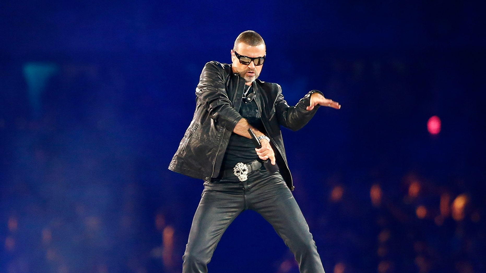 George Michael performs at the closing ceremony of the London 2012 Olympic Games at the Olympic stadium August 12, 2012.
