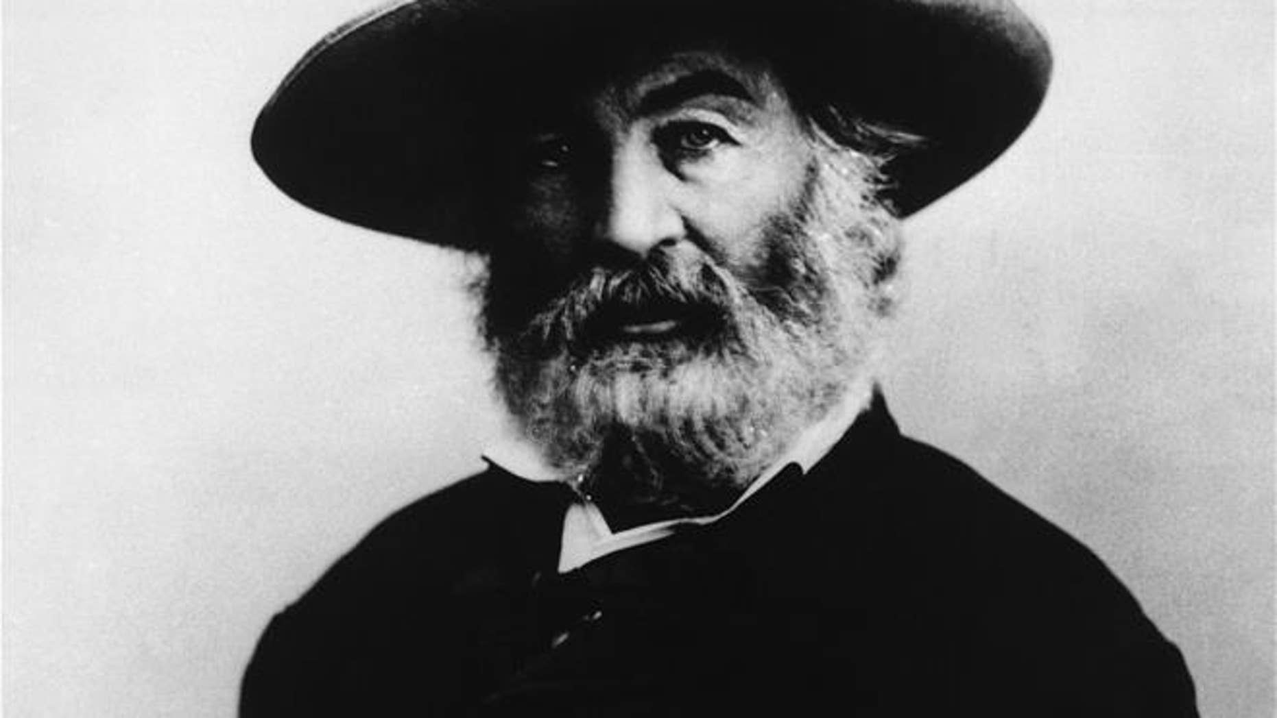 In this undated image, American writer Walt Whitman is seen.