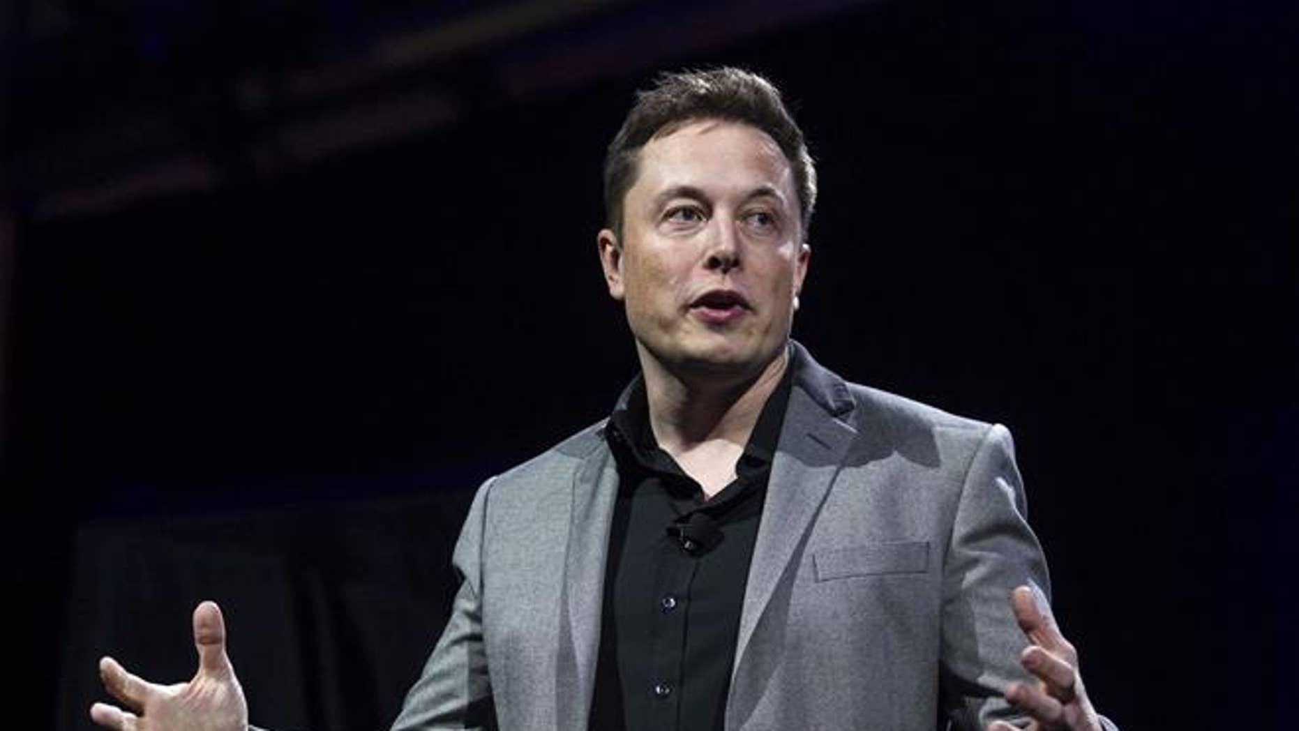 Tesla Motors CEO Elon Musk in 2015.
