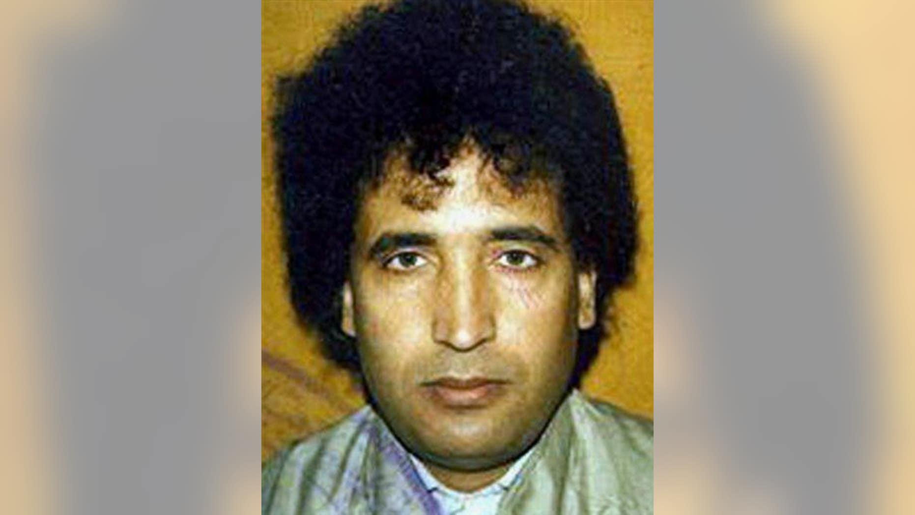Abdel Baset al-Megrahi in an undated file photo.