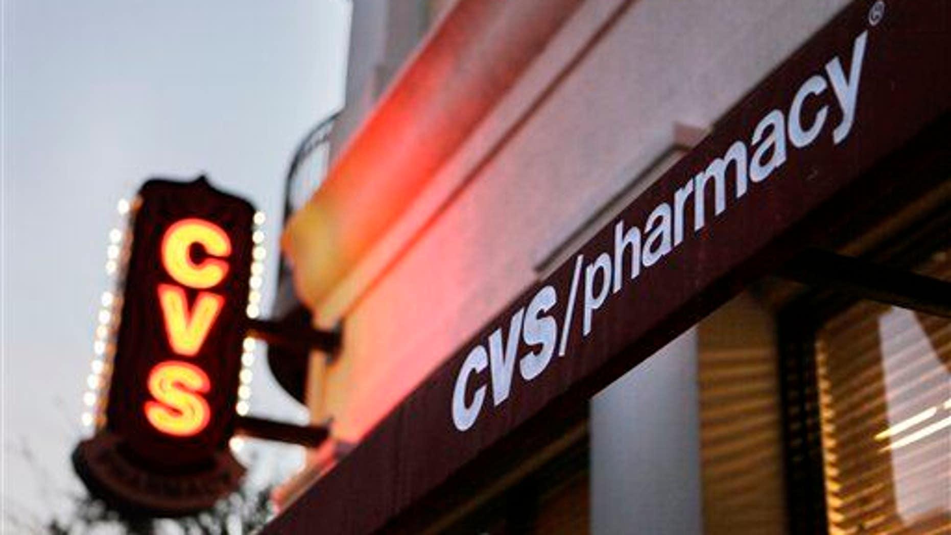 A CVS pharmacy is seen in Orlando, Fla., on Feb. 2, 2011.
