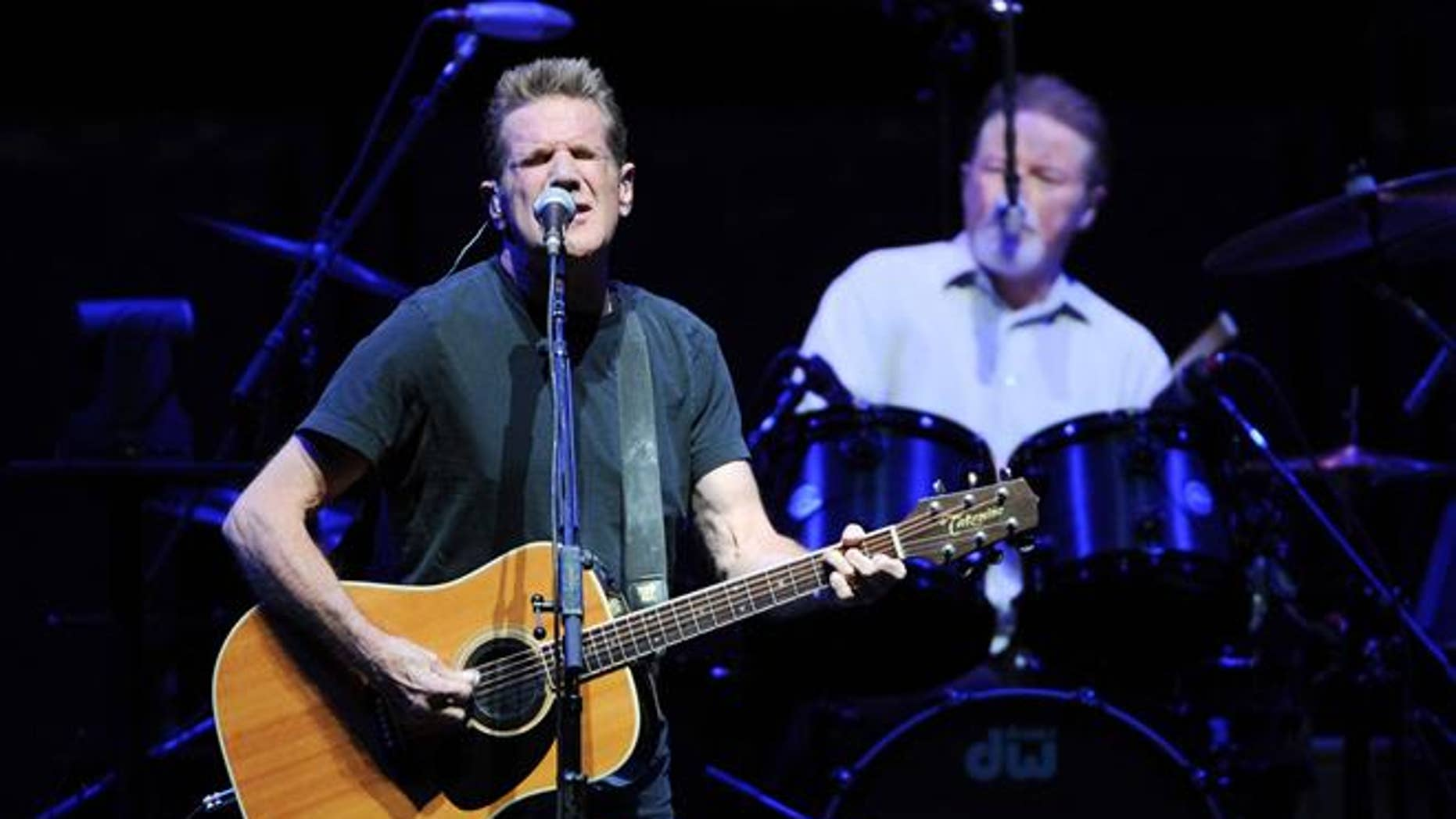 Glenn Frey, left, and Don Henley, of the Eagles, perform at Madison Square Garden in New York.