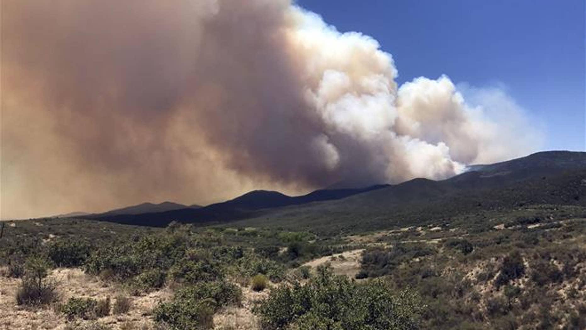The Goodwin Fire rages near Prescott, Ariz.