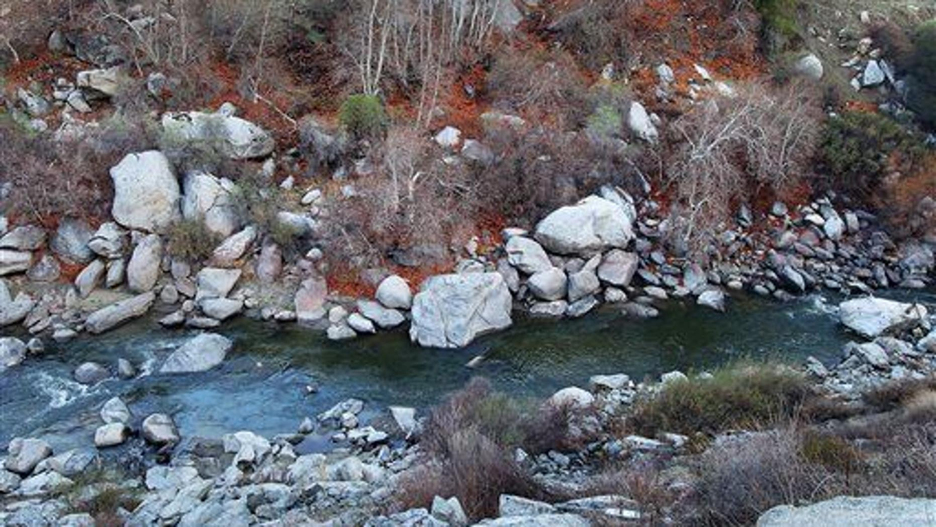 A file phote of the Kern River. It's running dangerously high now because of winter melt in California.