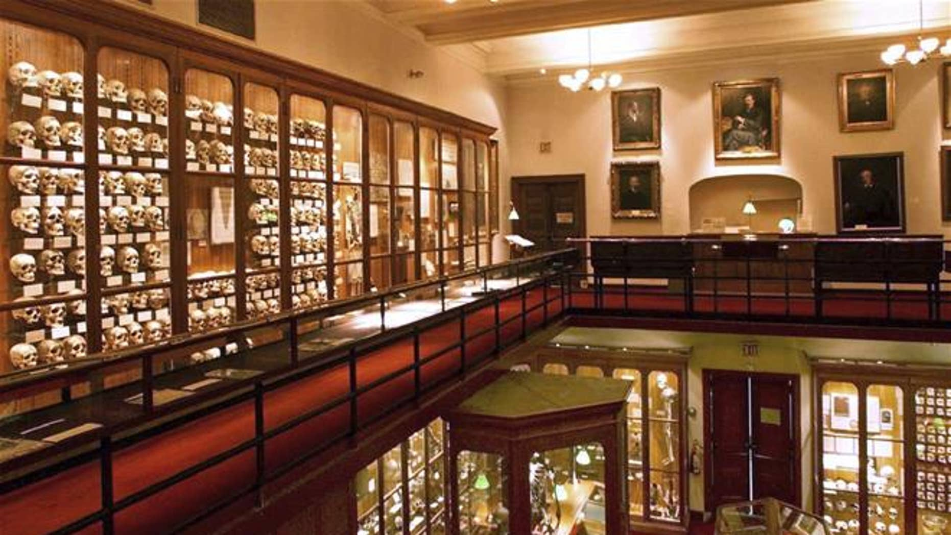 Carol Orzel wanted her skeleton to be displayed at Philadelphia's Mutter Museum (pictured) alongside Harry Eastlack, who suffered the same rare bone disease that Orzel did.
