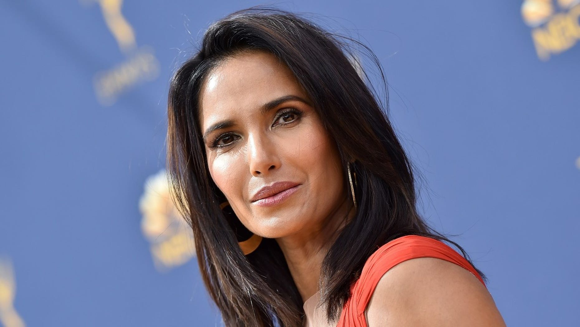 LOS ANGELES, CA - SEPTEMBER 17:  Padma Lakshmi attends the 70th Emmy Awards at Microsoft Theater on September 17, 2018 in Los Angeles, California.  (Photo by Axelle/Bauer-Griffin/FilmMagic)