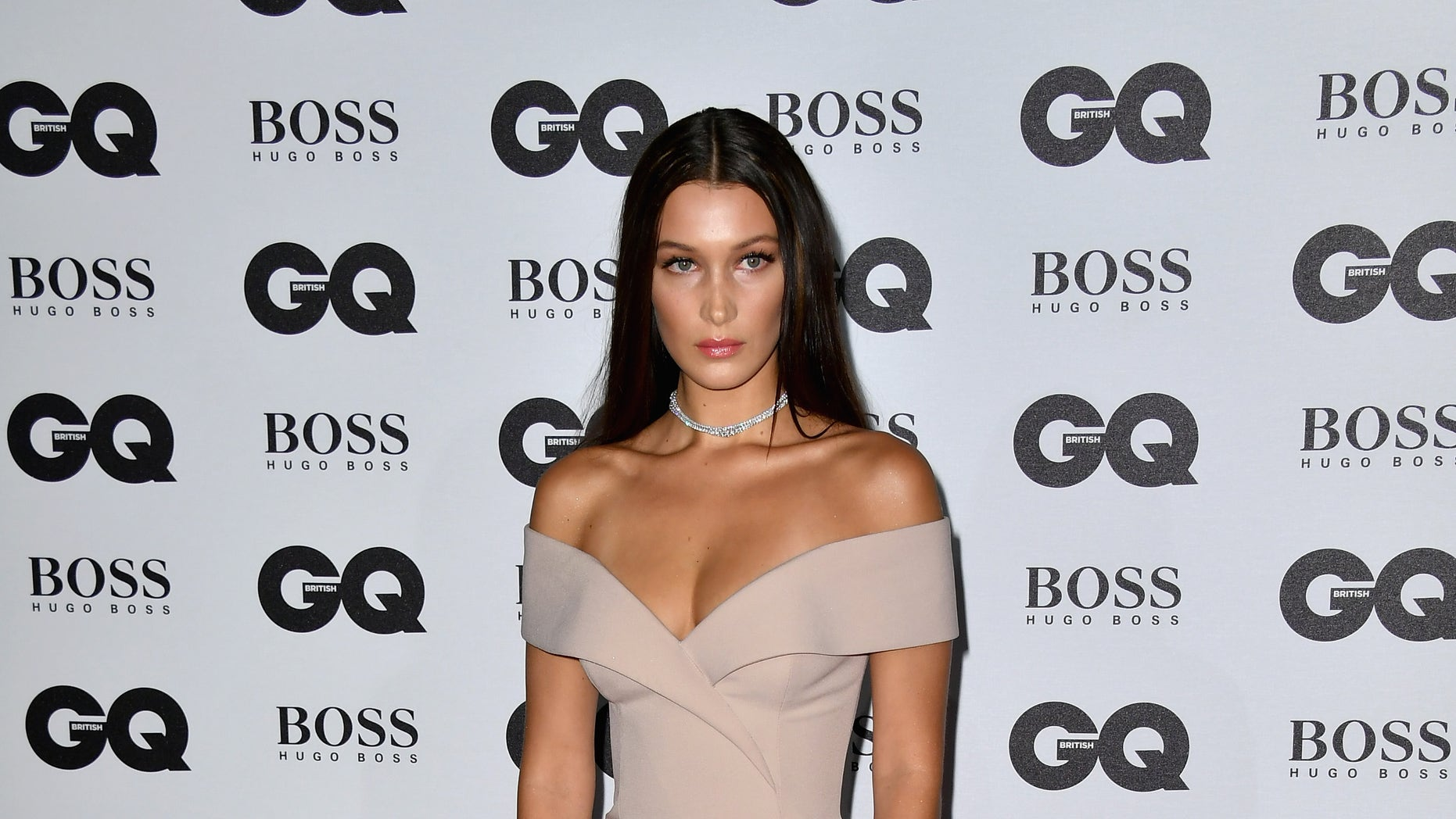 Bella Hadid arrives for the GQ Men of the Year Awards at Tate Modern on September 6, 2016, in London, England