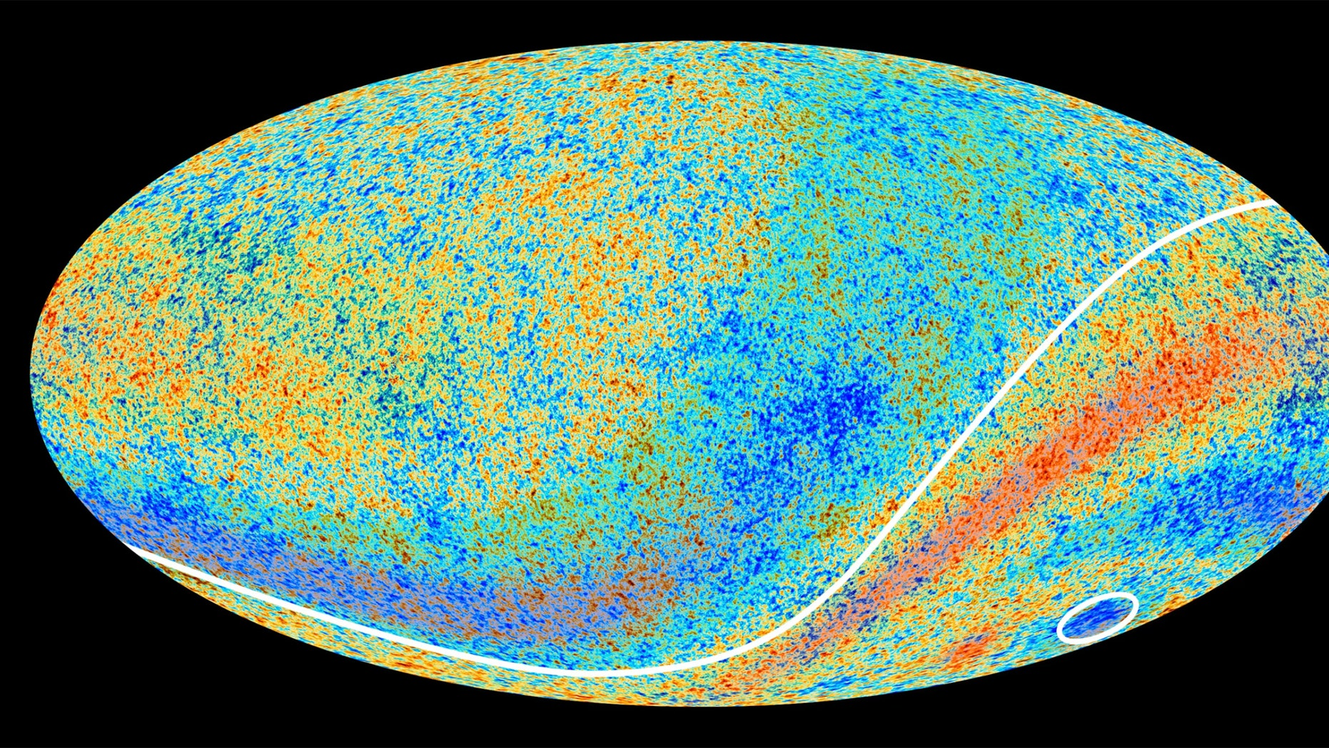 An image of the cosmic microwave background Credit: ESA and the Planck Collaboration