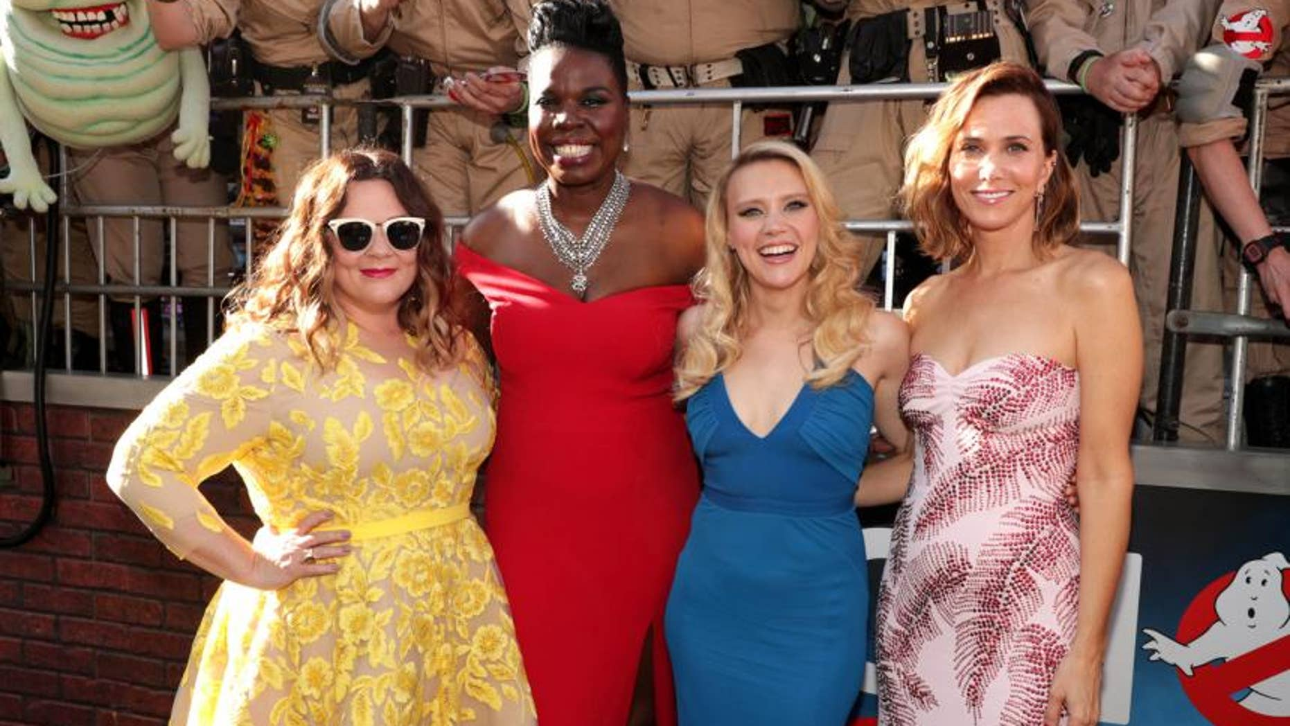 Pictured: Your new Ghostbusters. (Photo credit: AP)