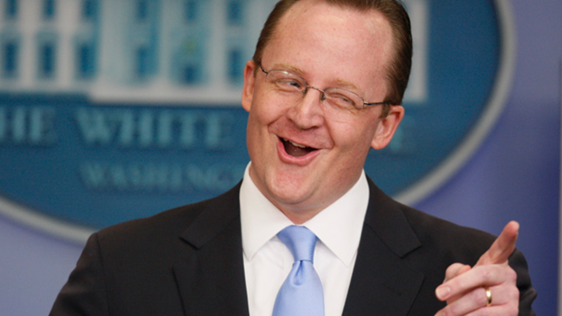 Friday: Press Secretary Robert Gibbs addresses reporters in his daily briefing. (AP)