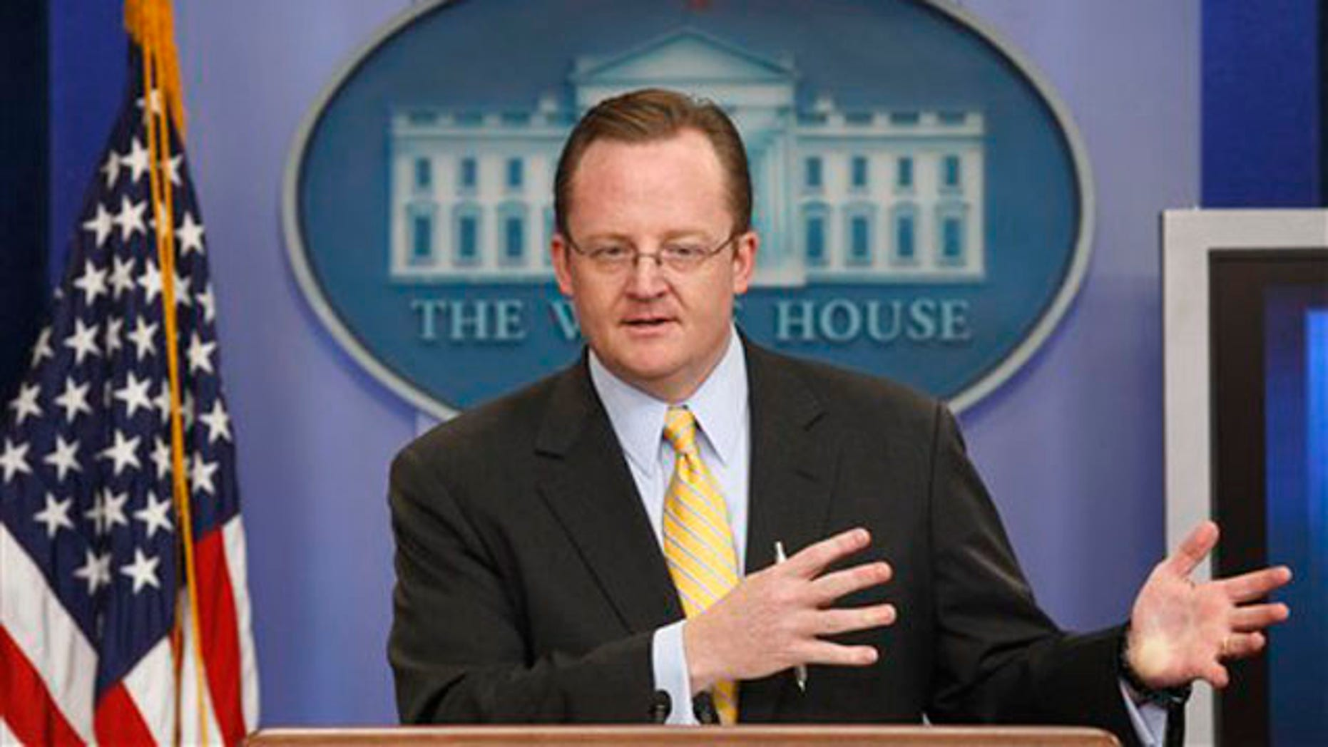 White House Press Secretary Robert Gibbs speaks at the daily news briefing at the White House Sept. 21. (AP Photo)