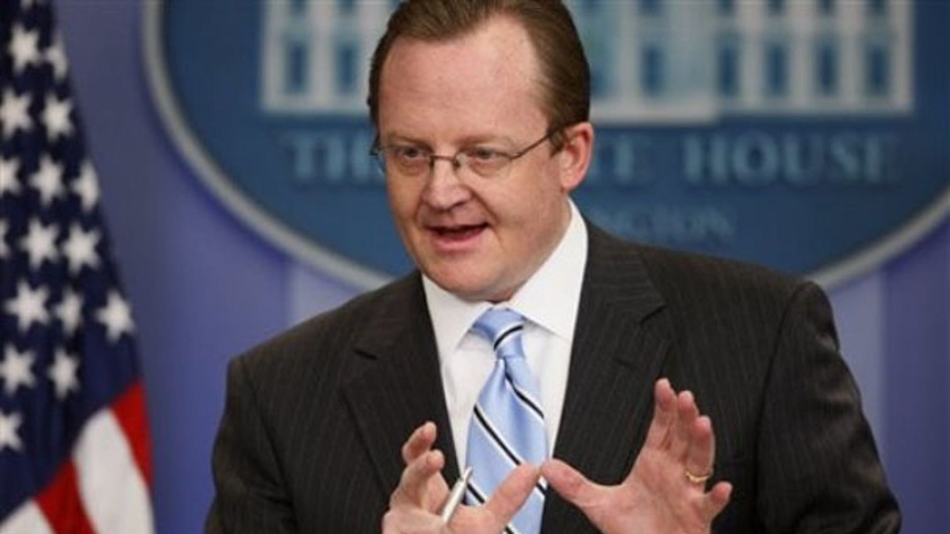 White House Press Secretary Robert Gibbs talks to reporters in Washington Feb. 17. (AP Photo)