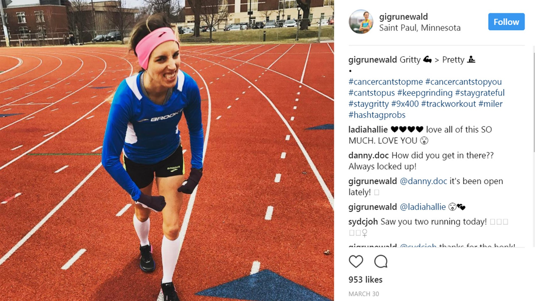 Gabe Grunewald is keeping up a busy racing season—and inspiring thousands of people in the process.