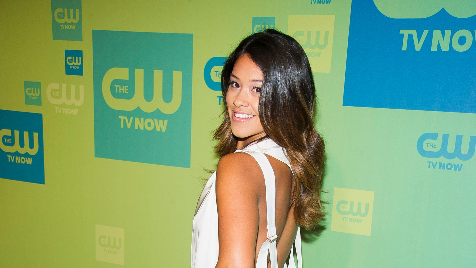 """May 15, 2014. Gina Rodriquez attends the CW Network Upfront in New York. She will be co-starring in the new fall show """"Jane the Virgin."""""""