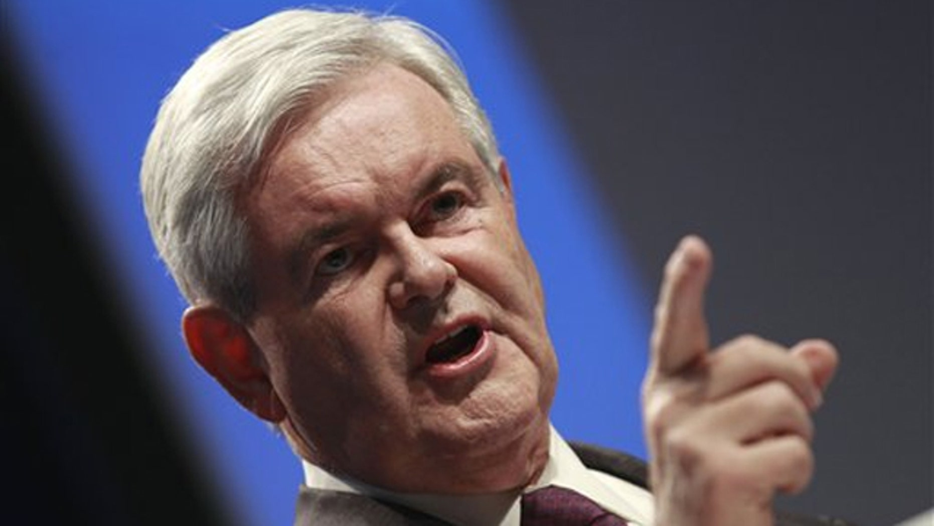 FILE: Former House Speaker Newt Gingrich addresses the Conservative Political Action Conference (CPAC) in Washington Feb. 10.