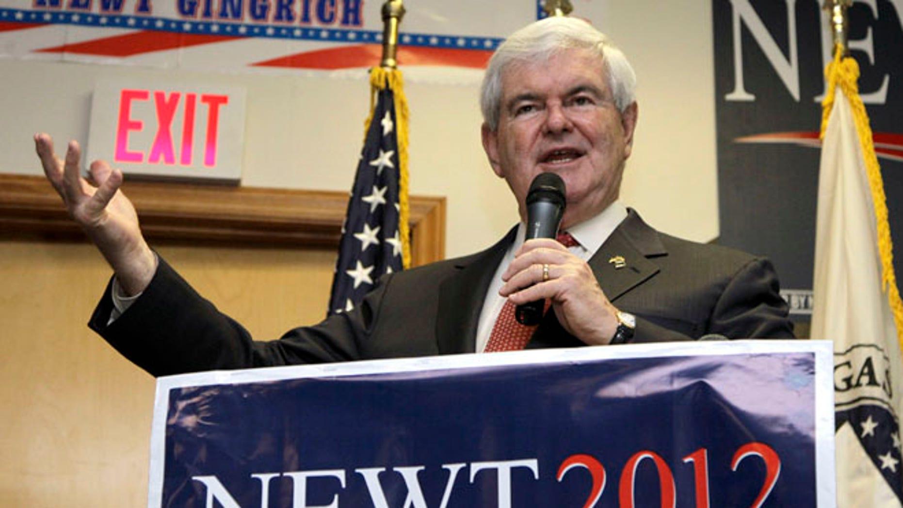 April 25, 2012: Newt Gingrich speaks in Cramerton, N.C.