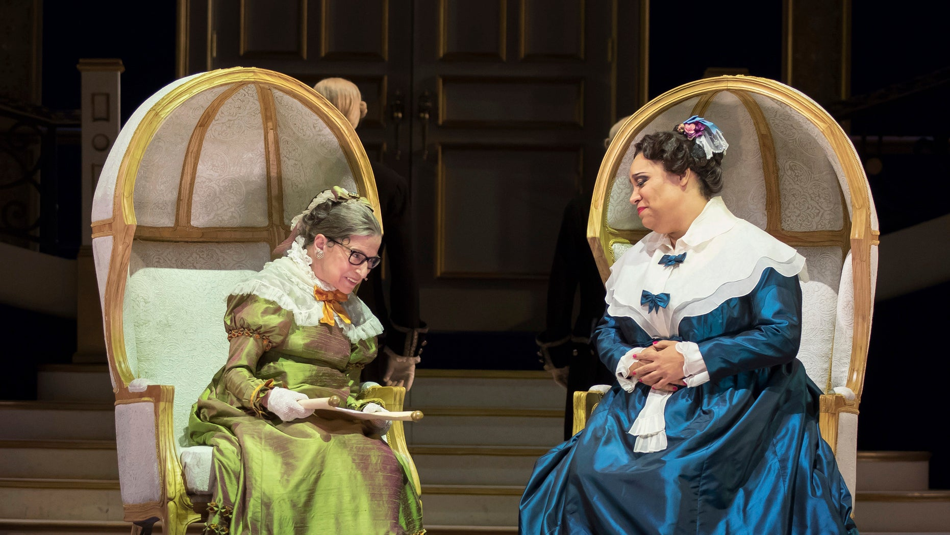 """Ruth Bader Ginsburg appeared in the opera """"The Daughter of the Regiment"""" in Washington."""