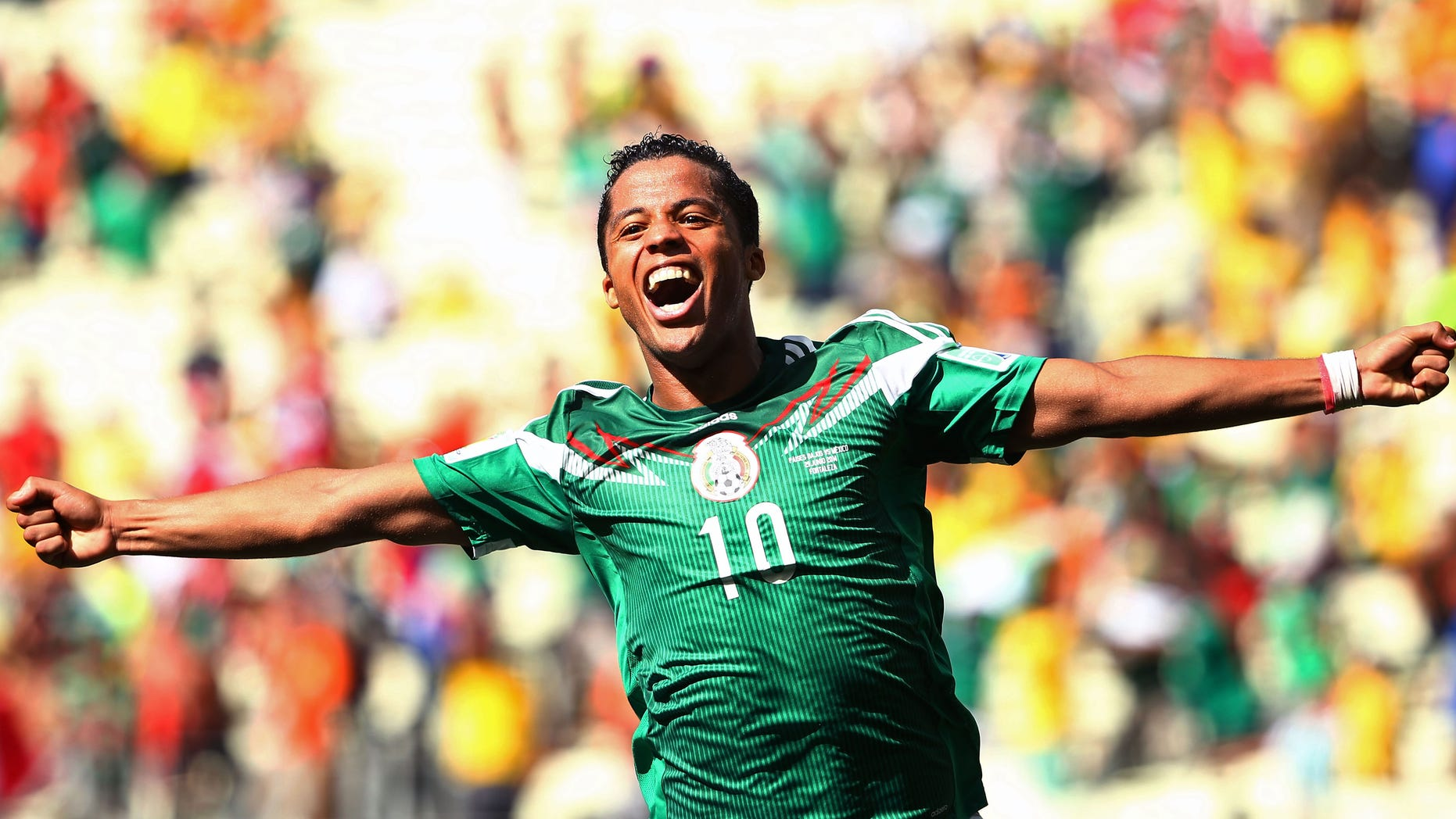 Giovani dos Santos during the 2014 FIFA World Cup Brazil Round of 16 in Fortaleza, Brazil.