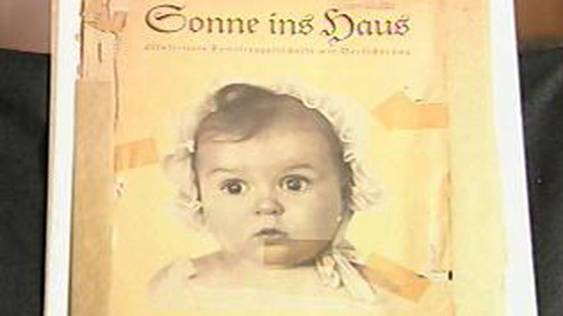 A picture of Hessy Taft as a baby that was featured in a Nazi magazine, as shown in an image excerpted from the video testimony of Hessy Taft's testimony courtesy of USC Shoah Foundation.