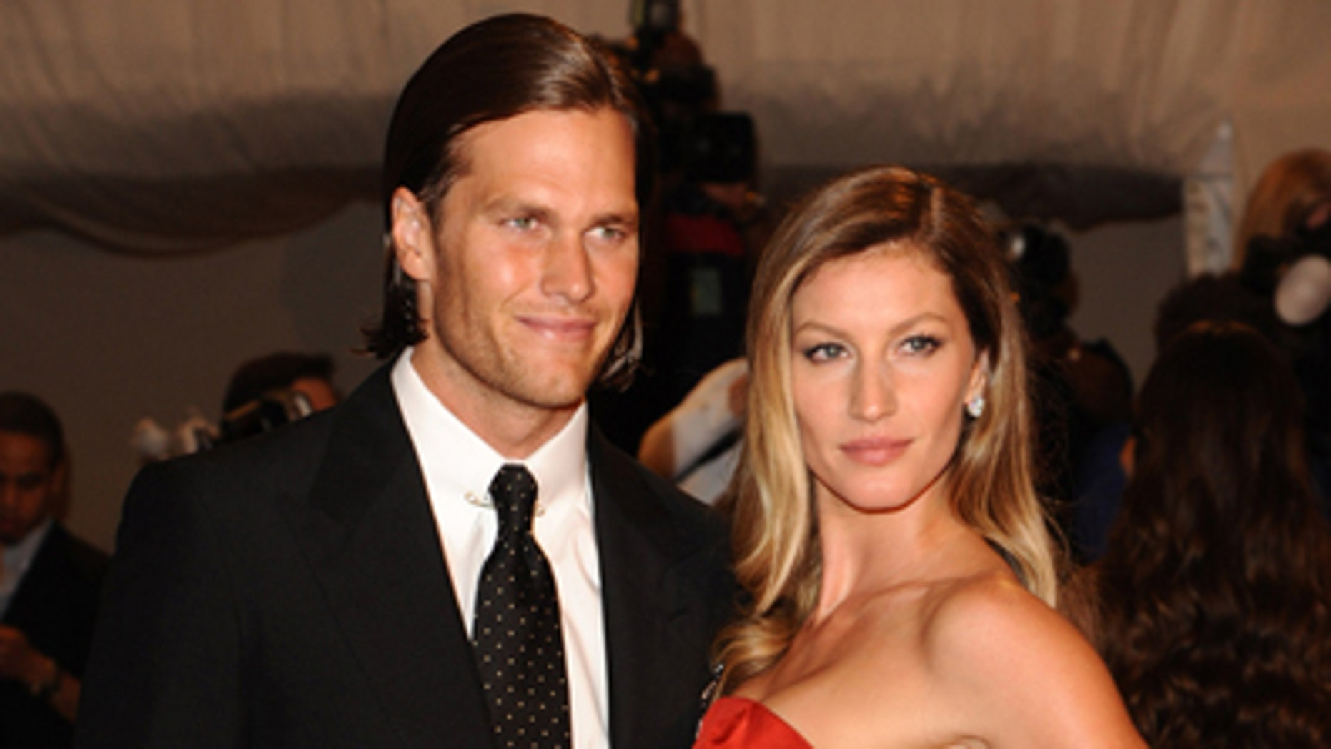 May 2, 2011: New England Patriots quarterback Tom Brady and Gisele Bundchen arrive at the Metropolitan Museum of Art Costume Institute gala in New York.